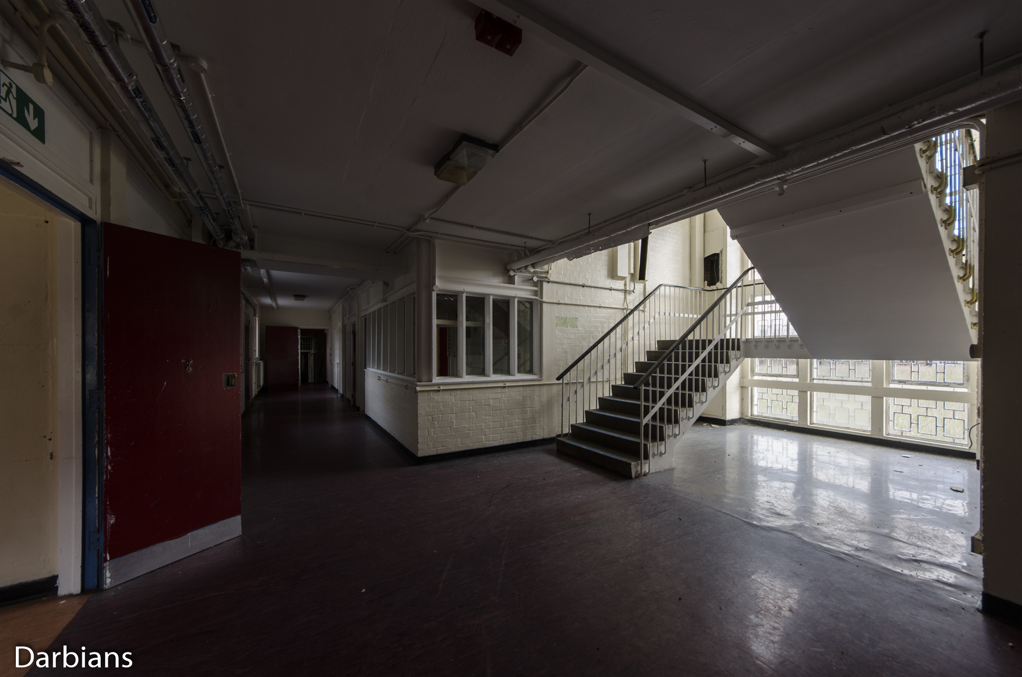HMP Blundeston Prison. Different angle of the staircase.