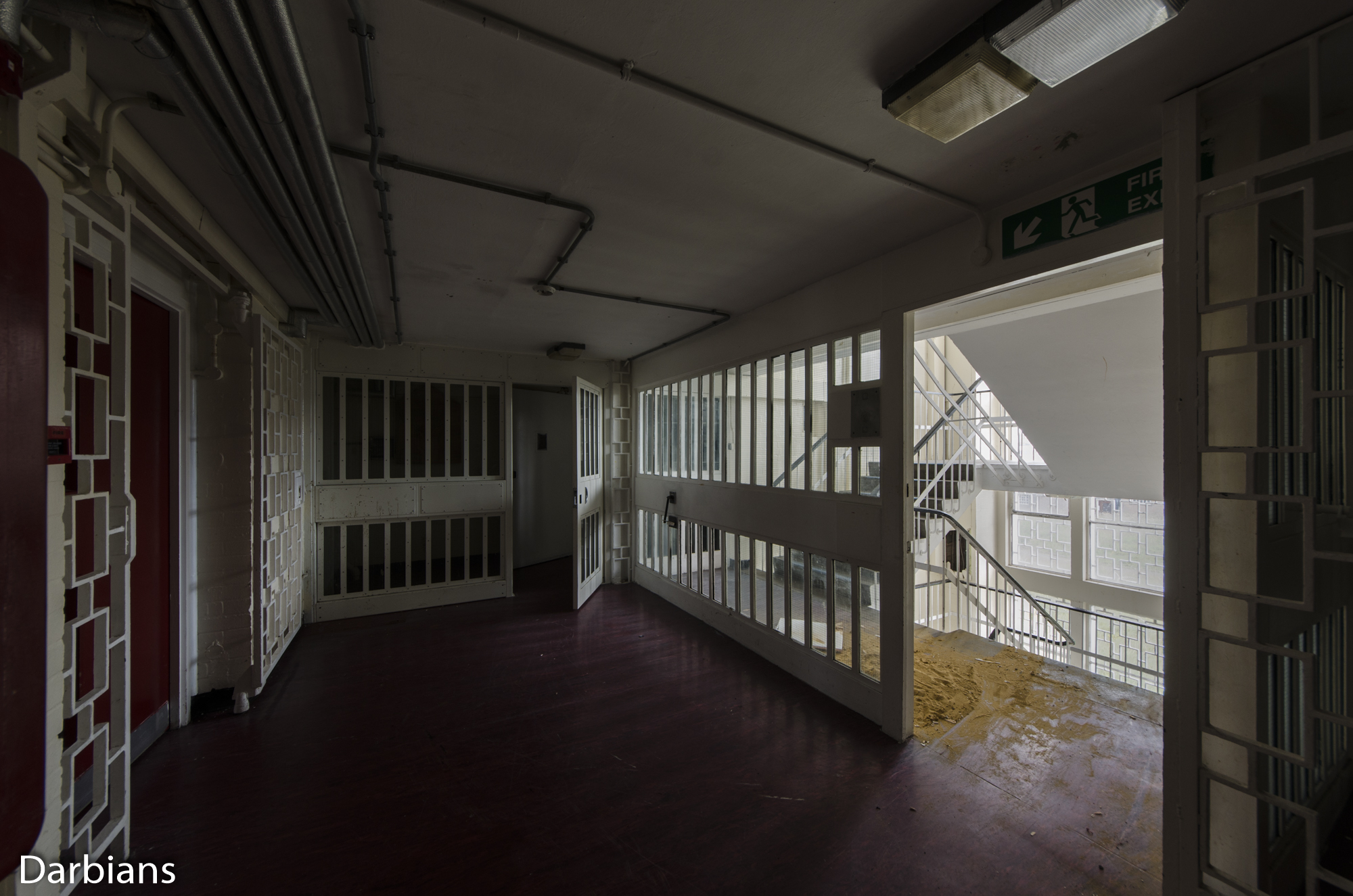 HMP Blundeston Prison. Landing of the staircase.