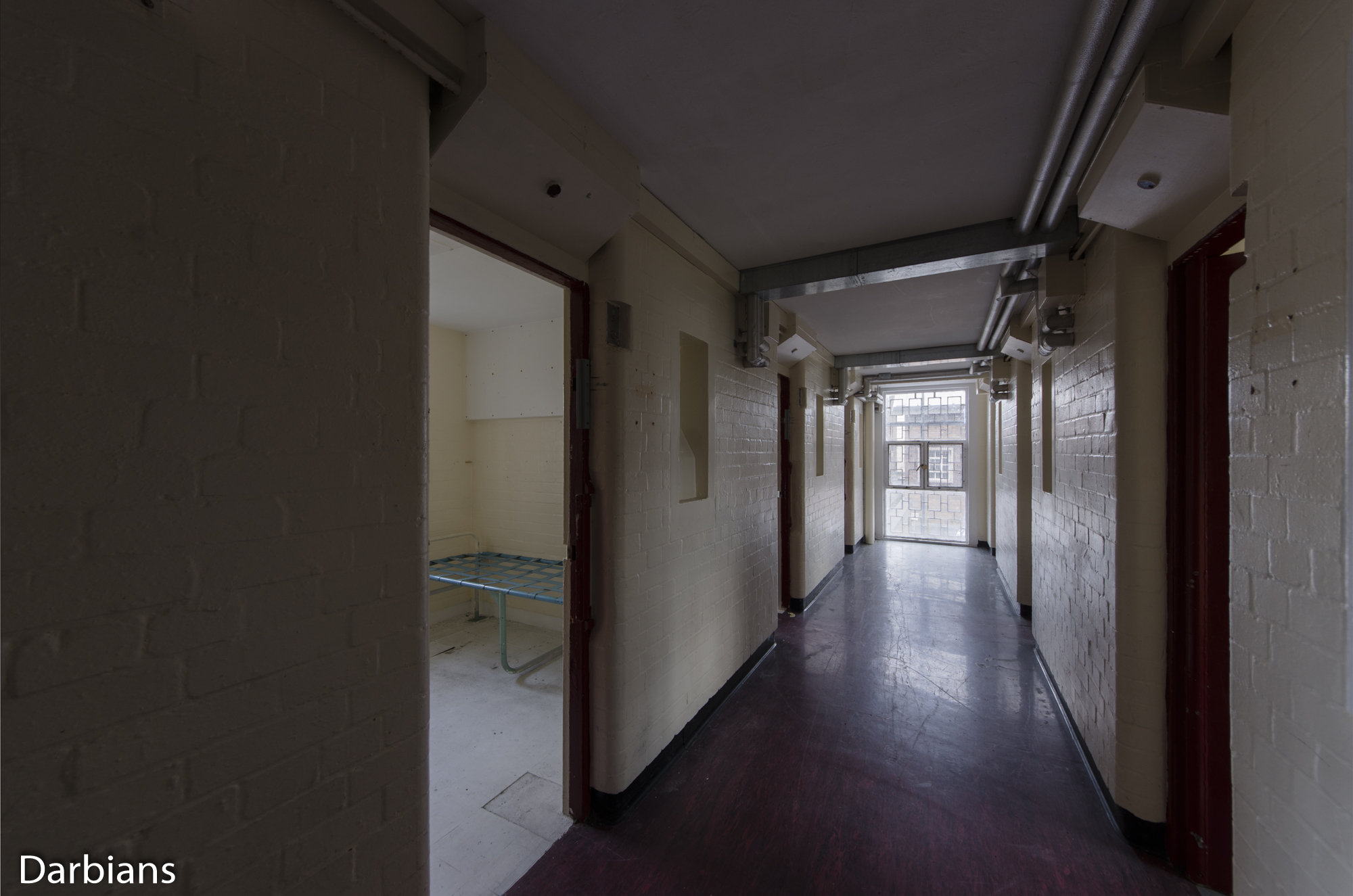 HMP Blundeston Prison. Small enclosed   wing.