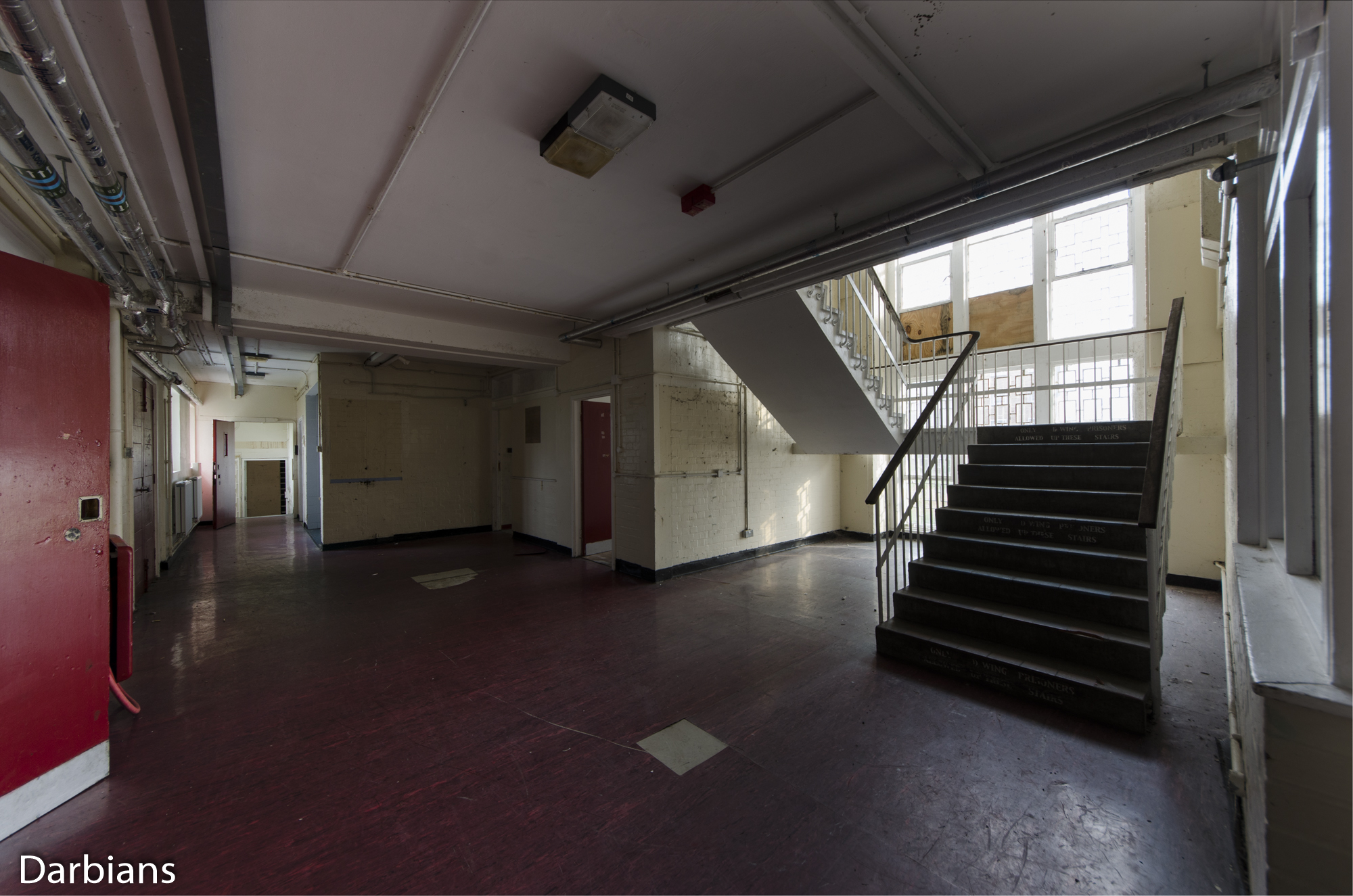 HMP Blundeston Prison. Another staircase.