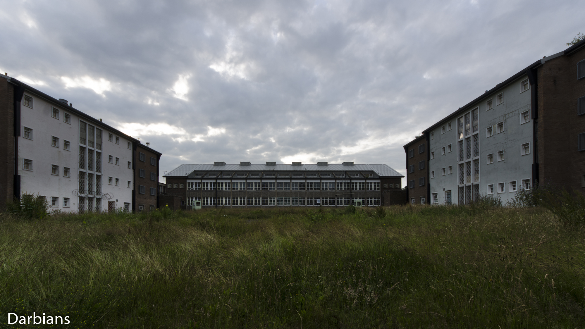 HMP Blundeston Prison. This wide view is just a small part of the prison.