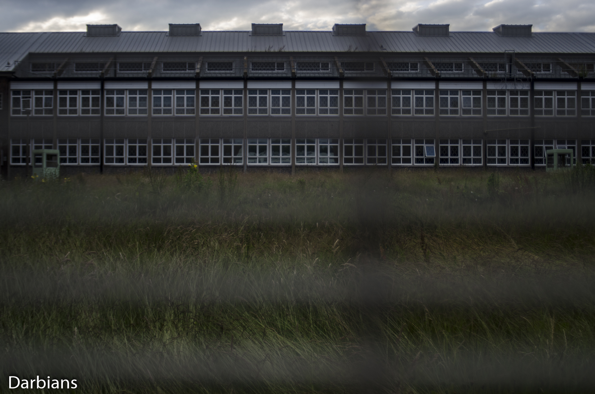 HMP Blundeston Prison. View through the fence.