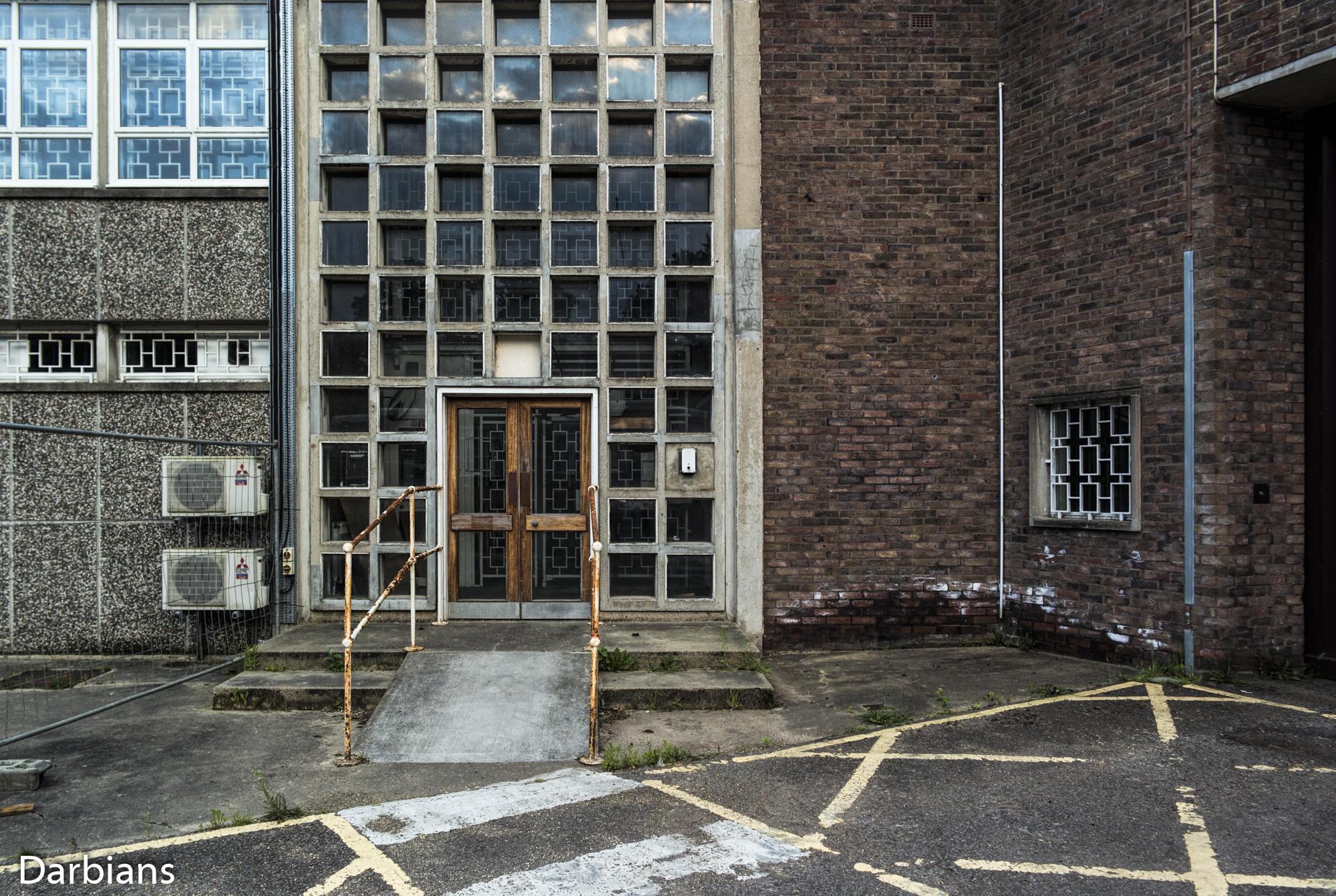 HMP Blundeston Prison. Entrance from the car park.