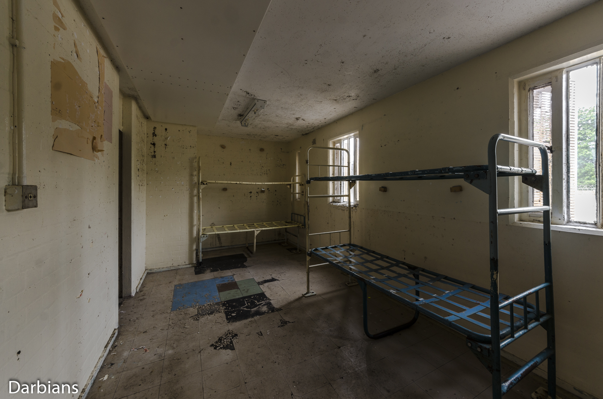 HMP Blundeston Prison. Cells with decay, beds were all metal.