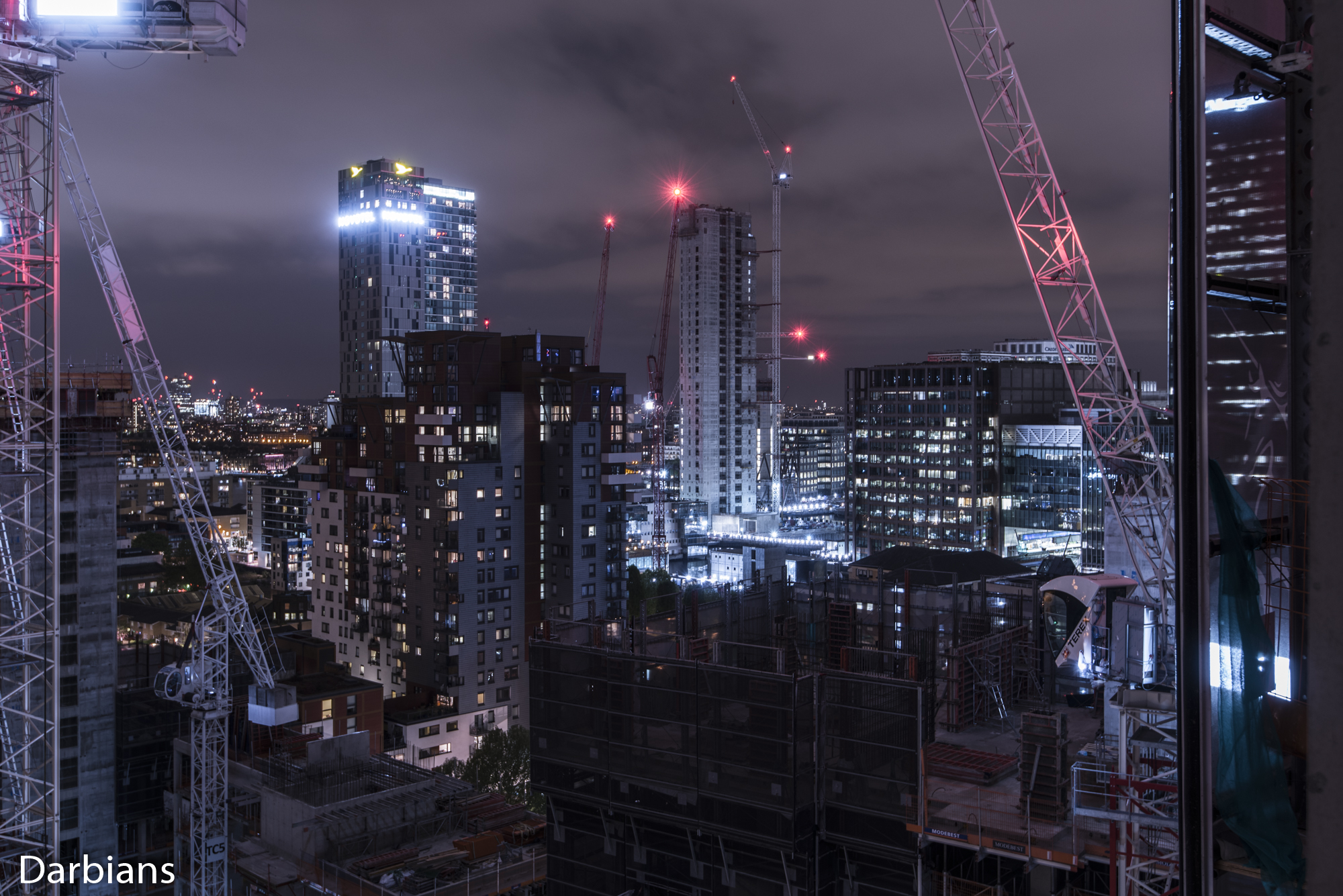 Canary Wharf Rooftop. Always development going on in London.