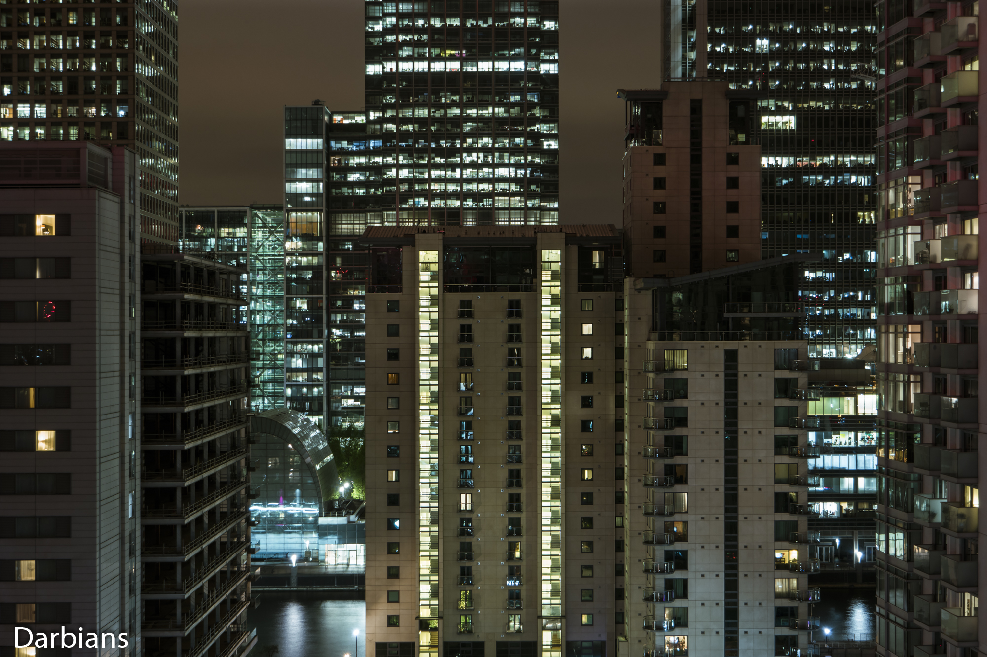 Canary Wharf Rooftop. I like this height as it opens so many possibilities for composition.