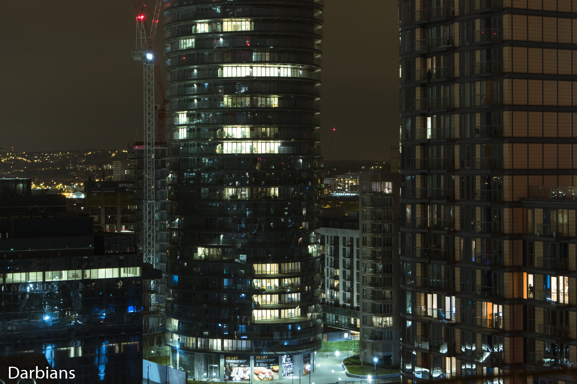 Canary Wharf Rooftop. A closer view of Baltimore Tower. with Ability Place.