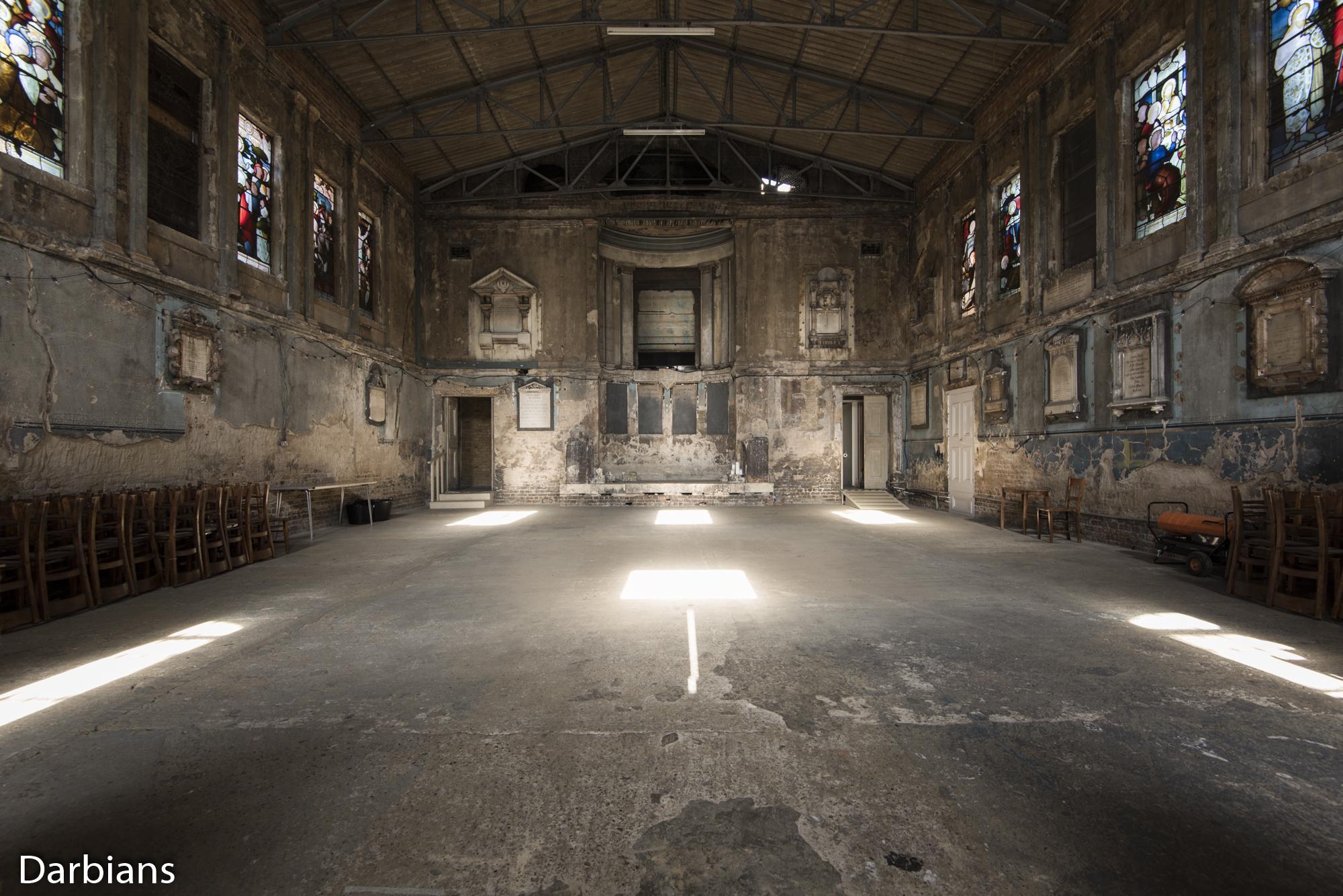 Asylum Chapel Wider view.