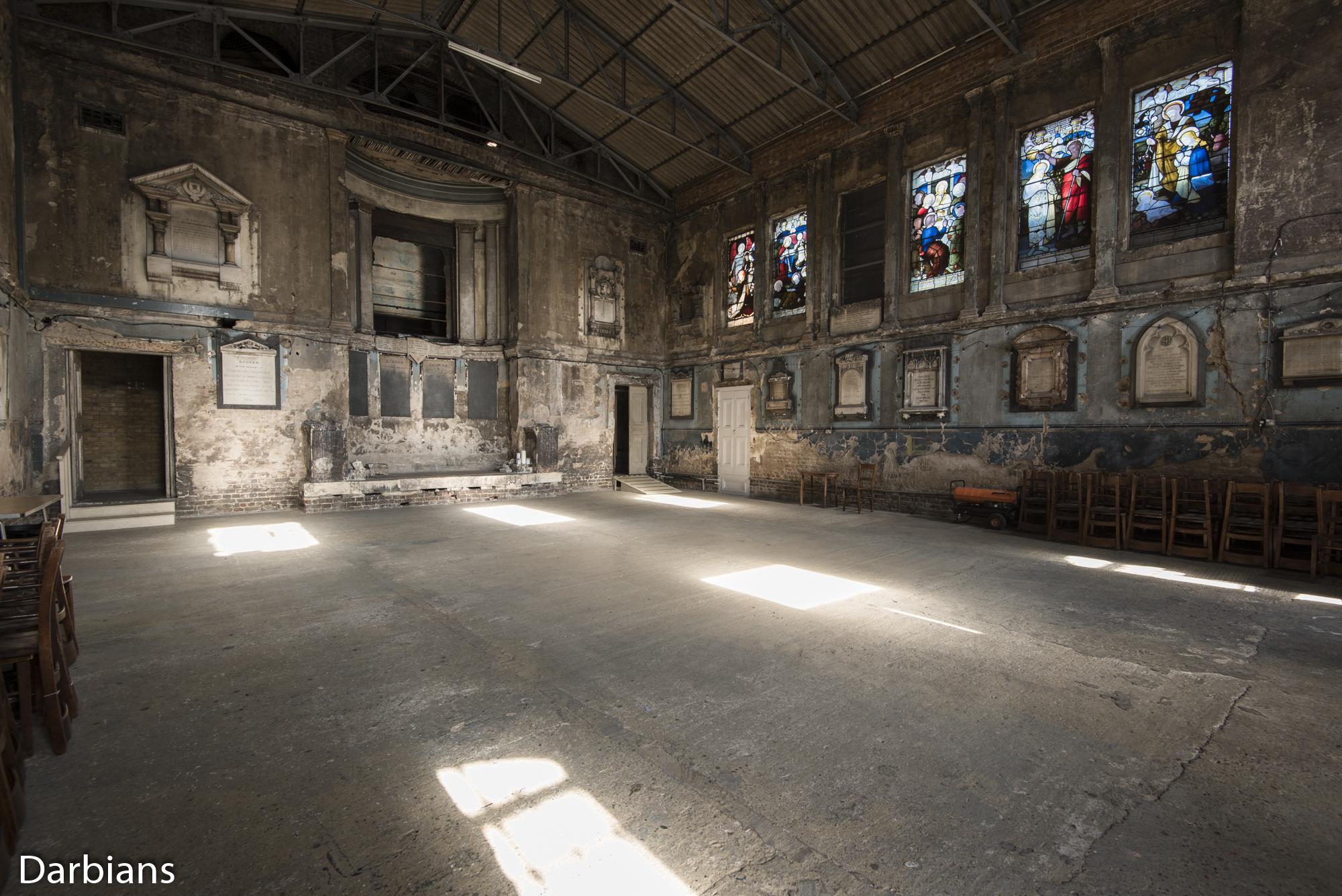 Asylum Chapel angled view.