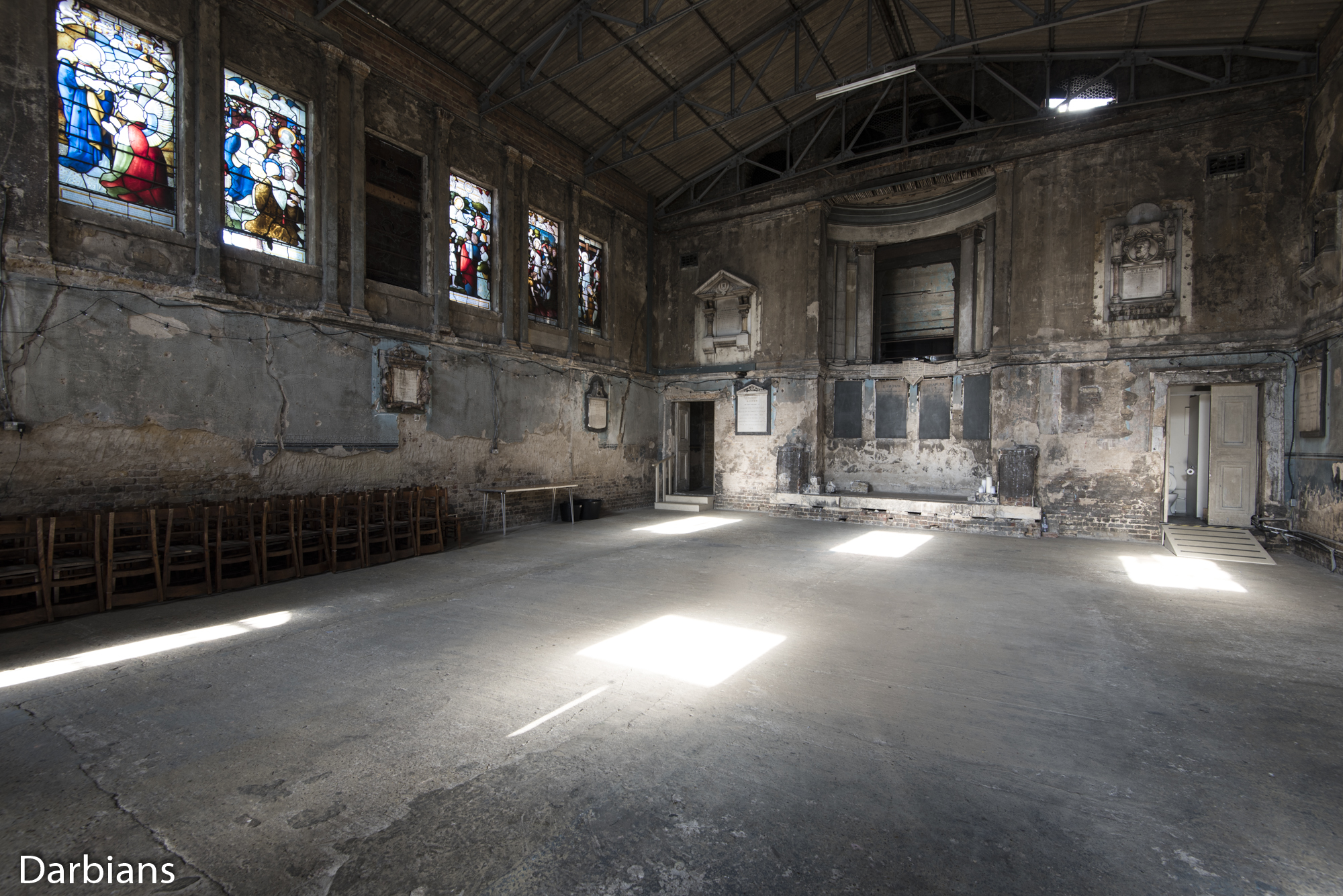 Asylum Chapel. Angled view other side.