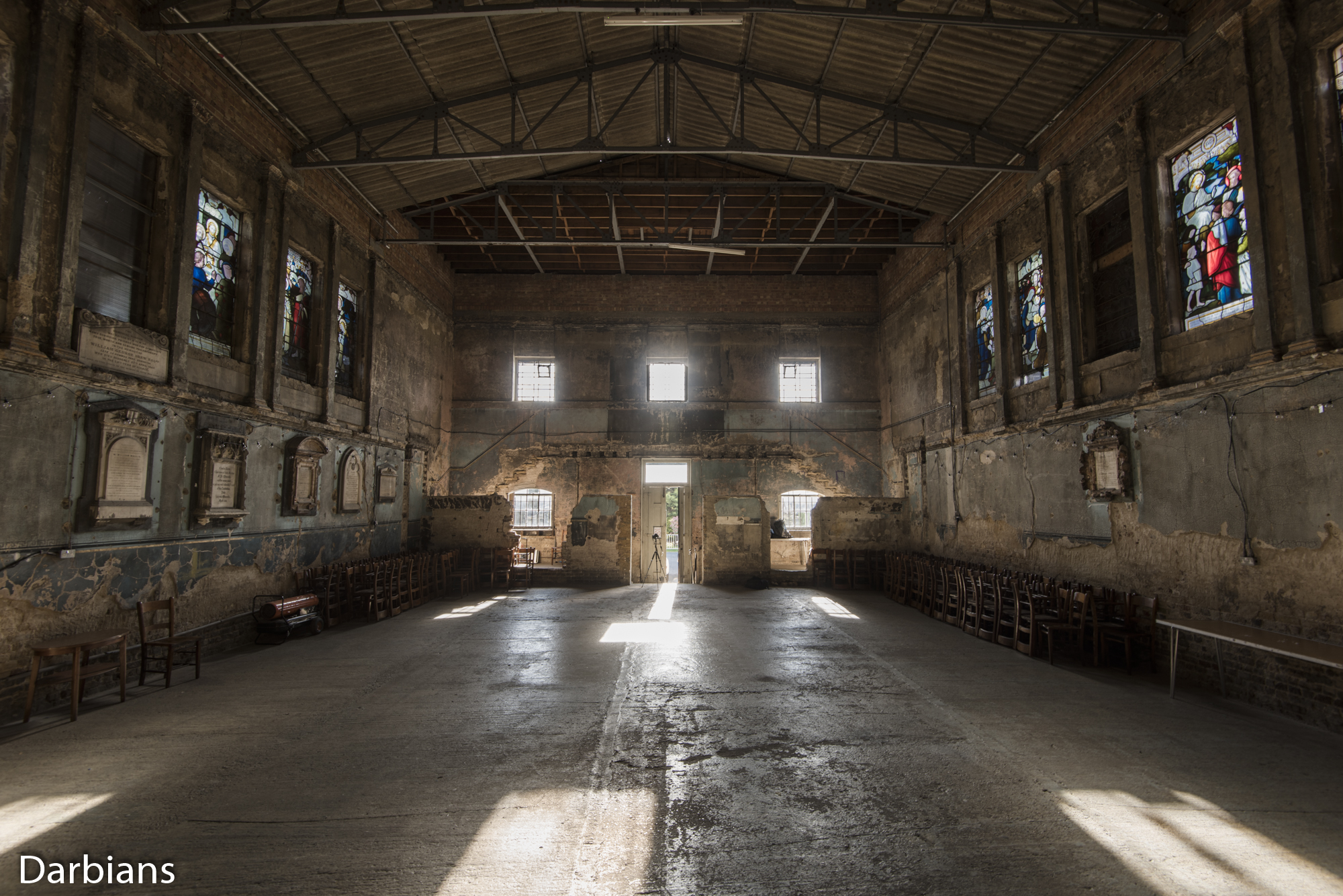 Asylum Chapel. Looking back to the entrance.