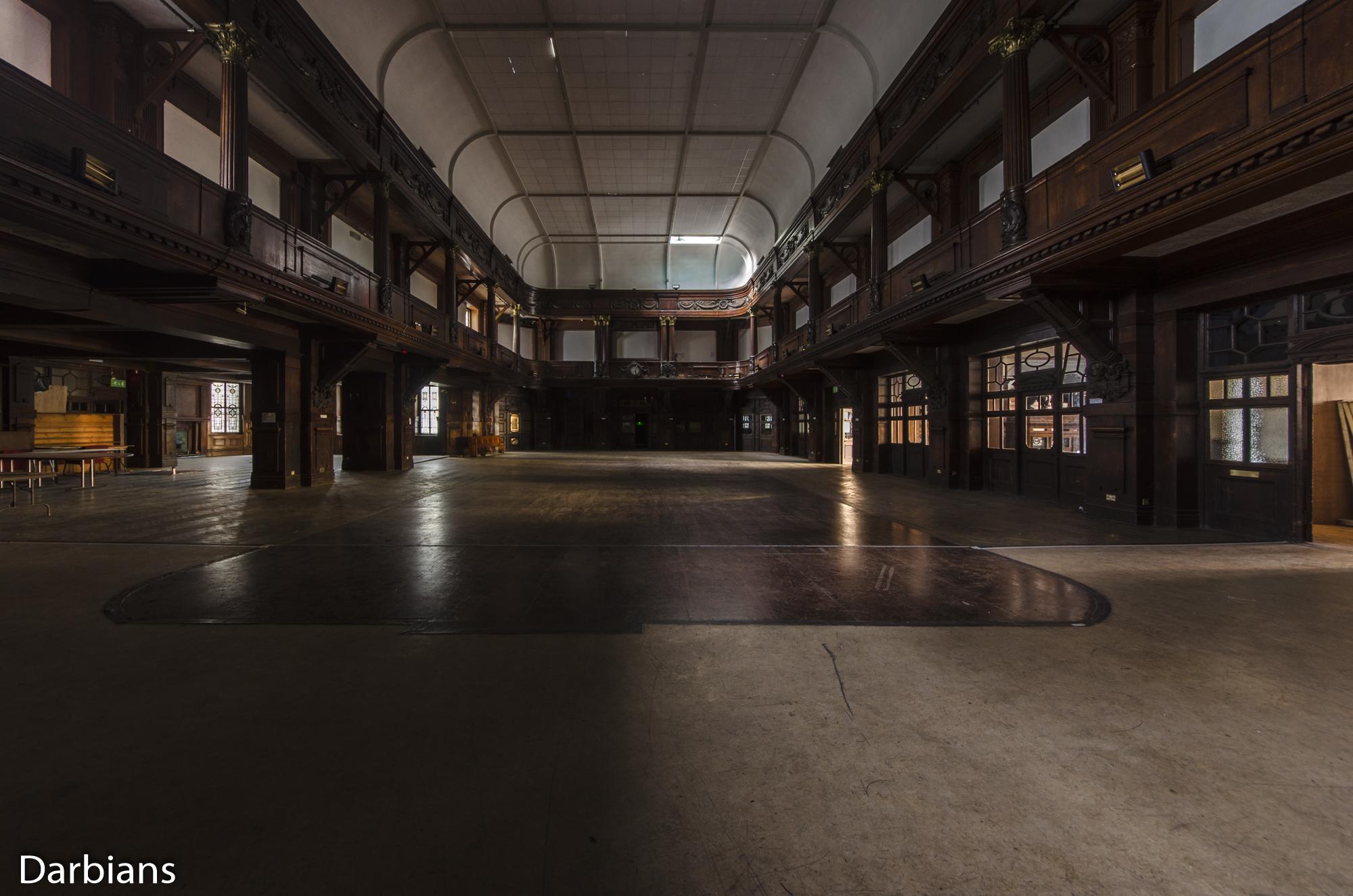 Cardiff Coal Exchange. Main hall