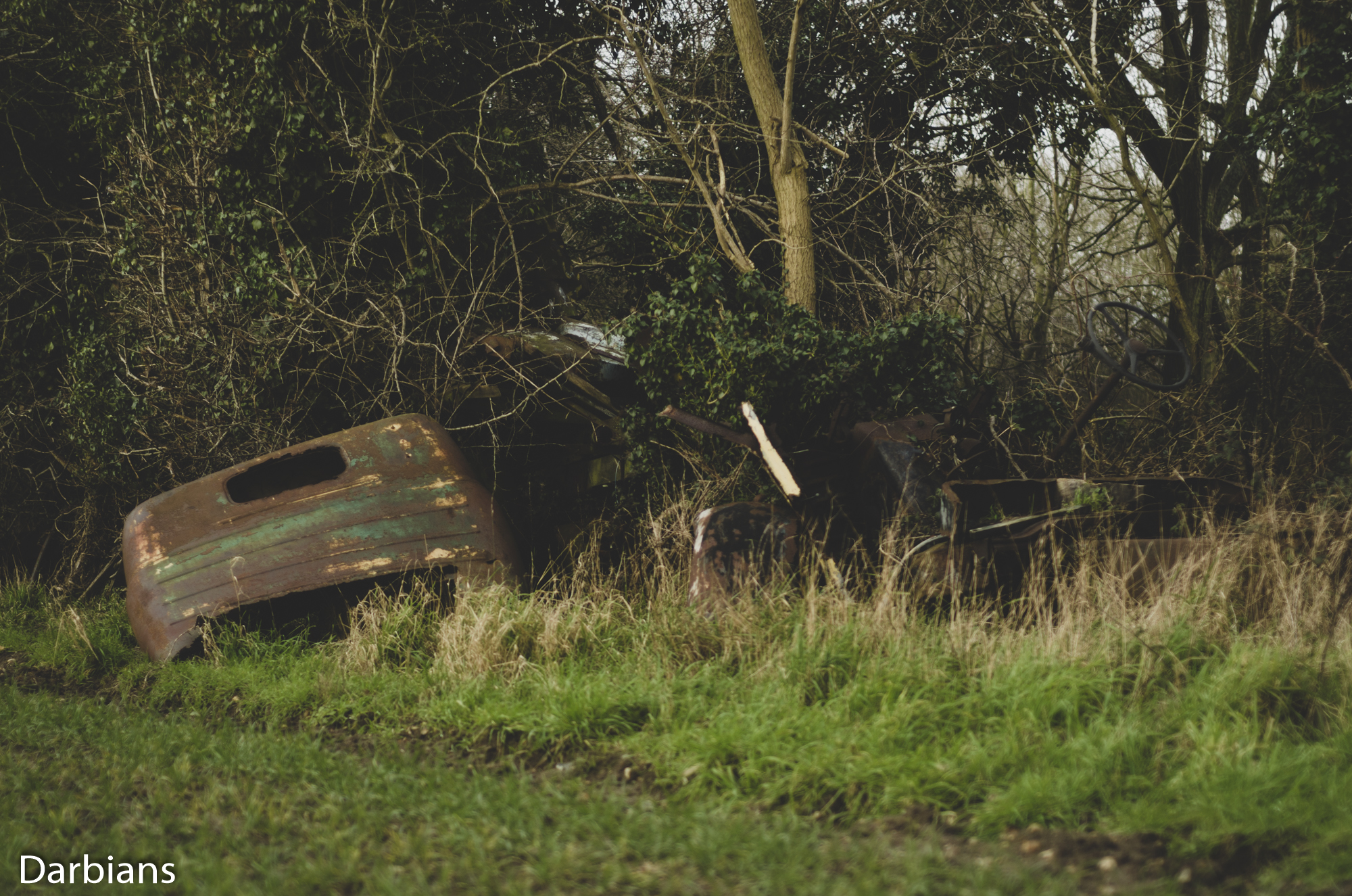 Duelly Graveyard: The cab that caught my eye from the road.