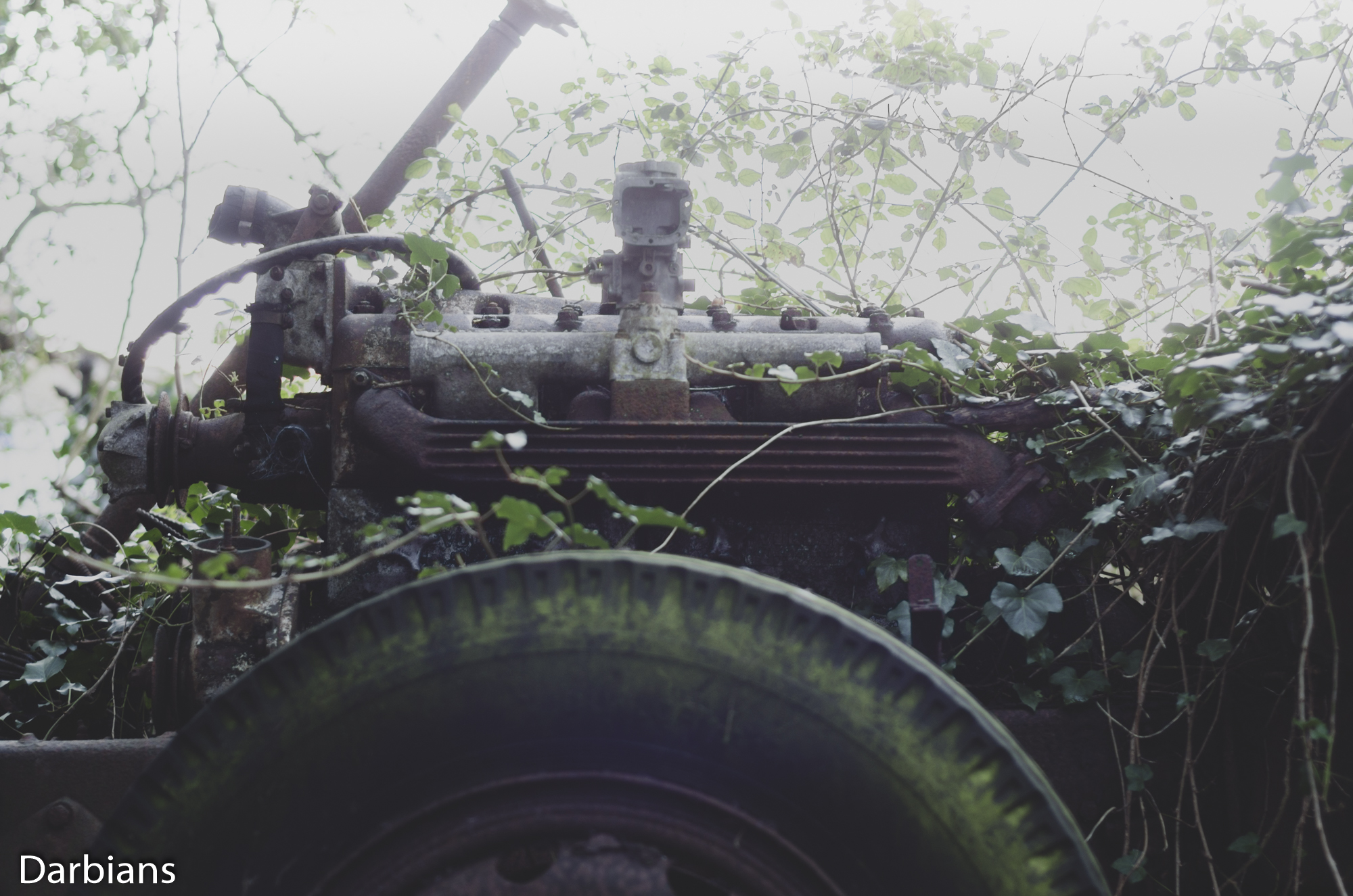 Duelly Graveyard: The engine was right below the driver.
