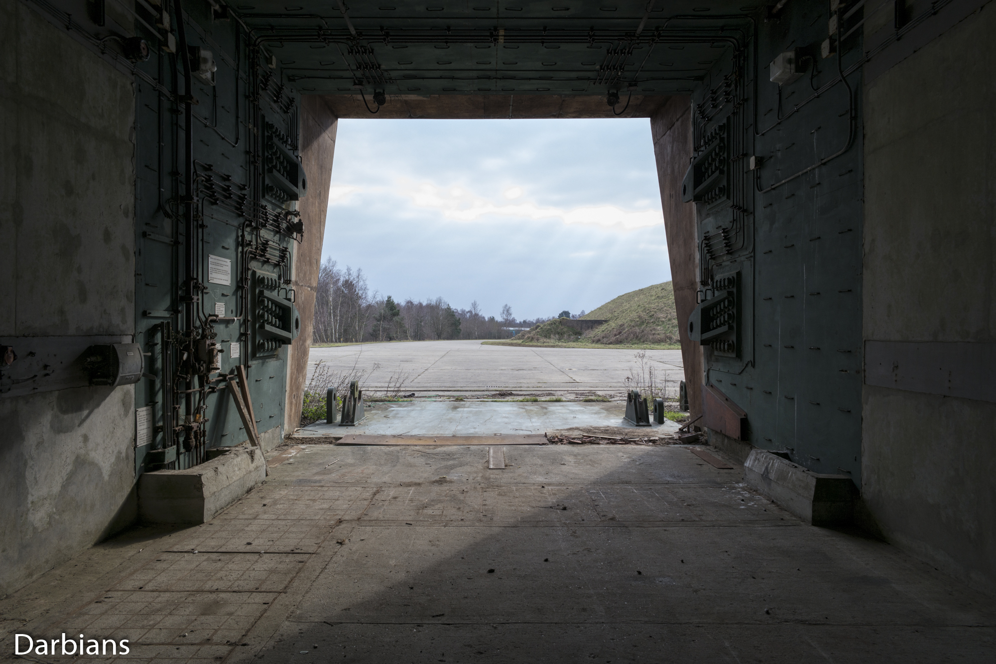 RAF Greenham Common: View out of one of the silos.