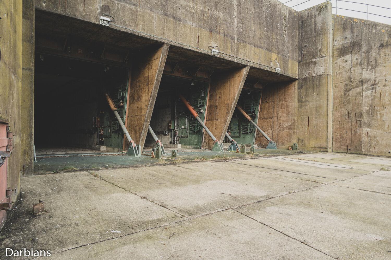 RAF Greenham Common: Silo doors open.