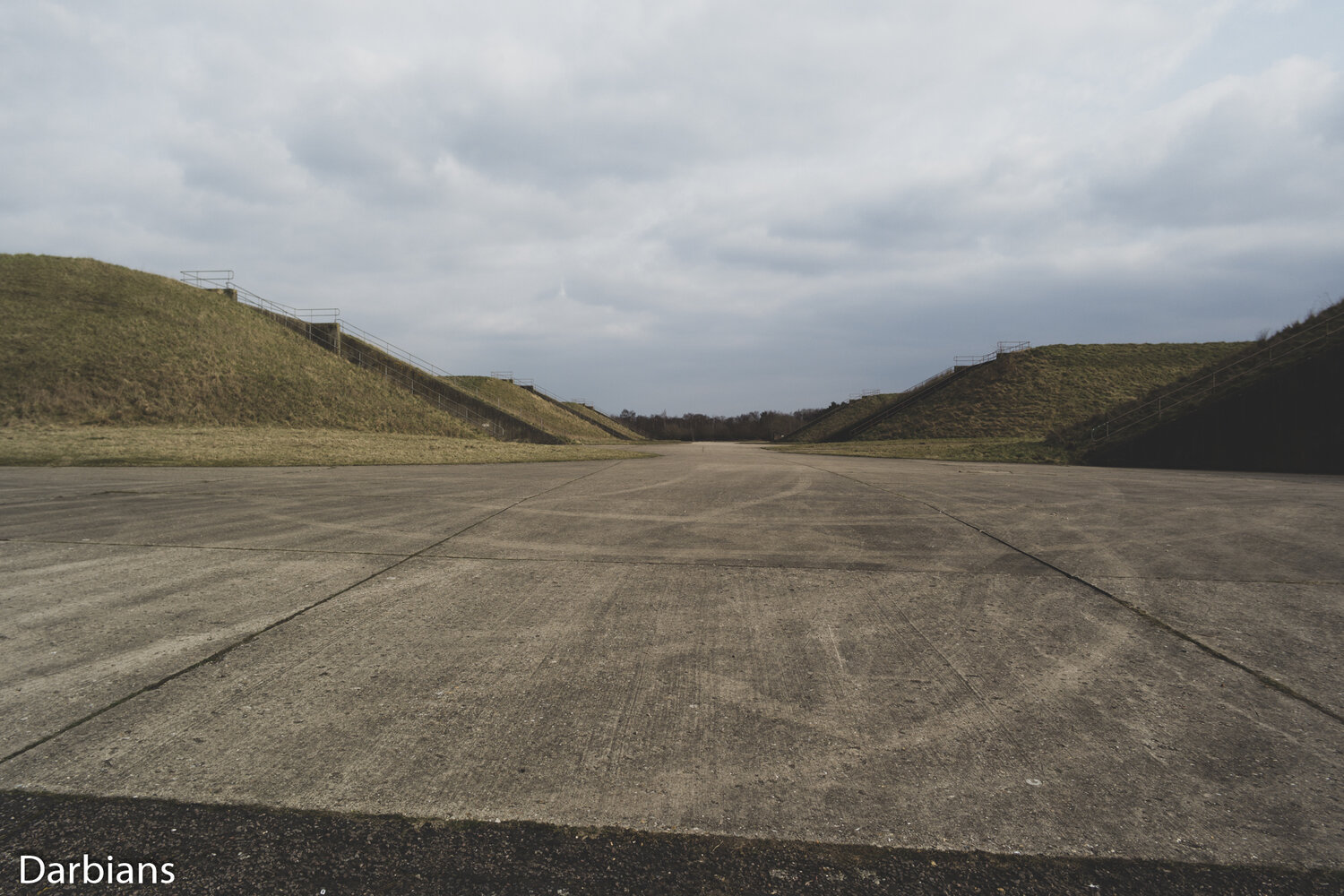 RAF Greenham Common: A different view of the central area.
