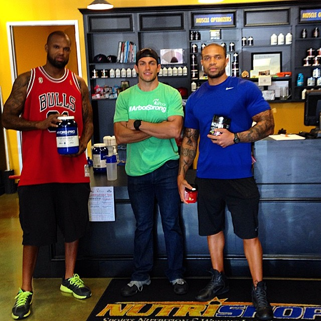Paul with Slim Thug and his trainer at Nutrishop Houston