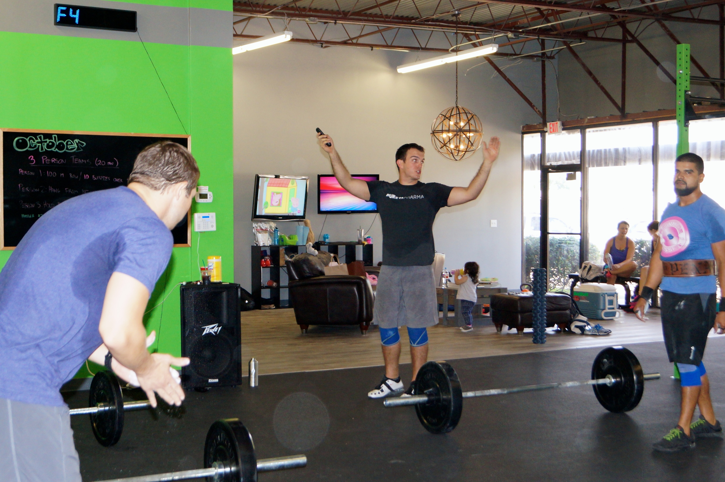 Ben leading a group at CrossFit Zeke a few weeks ago.
