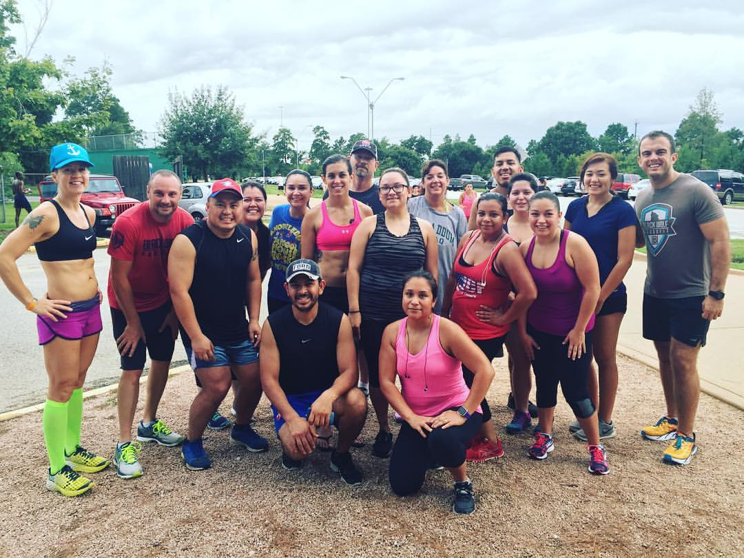 Running Club kicked off the training season with a 3 mile run out at Memorial Park yesterday. We meet every Sunday to get in our long runs as a group. If you're interested, let me know.