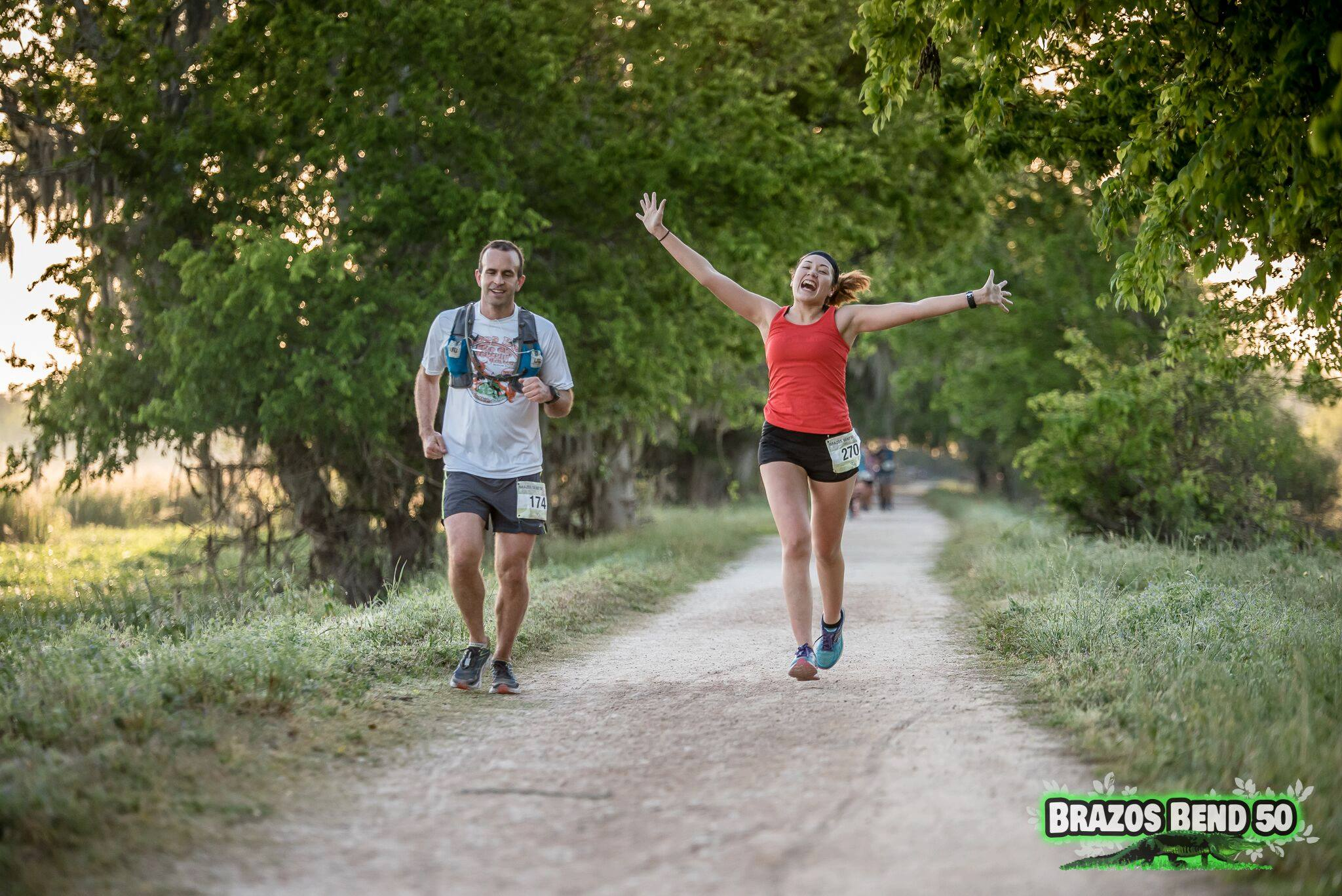 Her positivity is abundant and quite apparent from the moment you meet her. And she's taken her Racing Coach Wendy's advice on how to handle camera men on the running course!