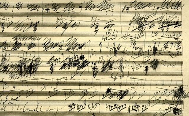 This is one of Beethoven's many sketches.