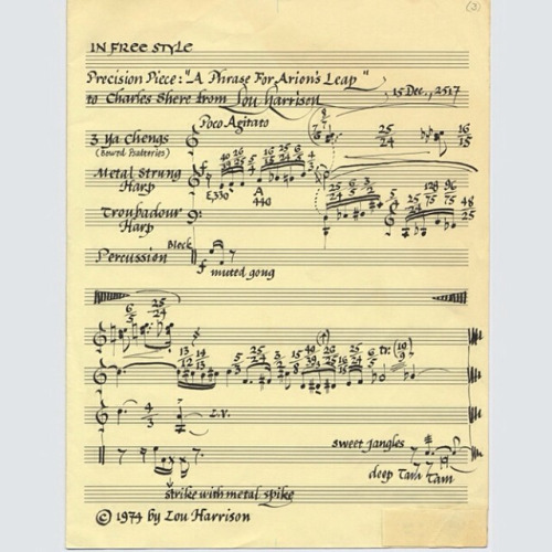 Score sample of Lou Harrison