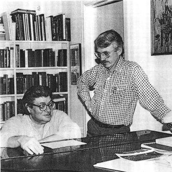 Morton Feldman and Jan Williams, Photo by Bunita Marcus