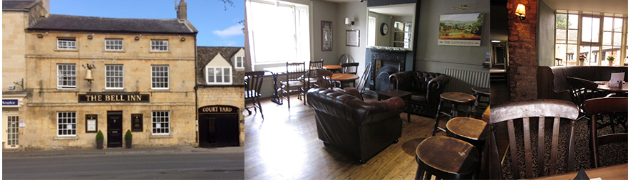 The Bell Inn Exterior, the Front Parlor, the Rear Parlor