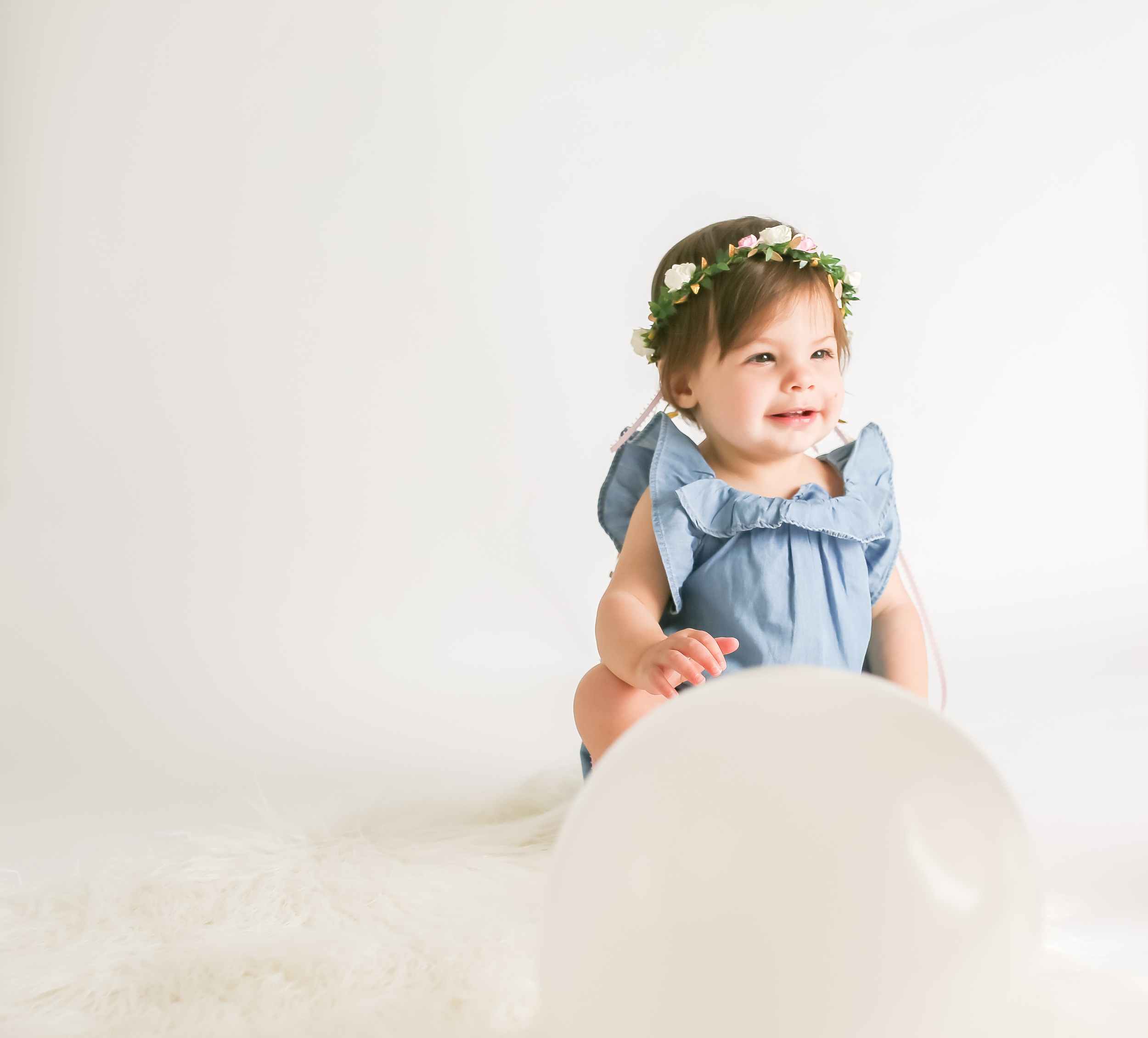 baby girl floral crown