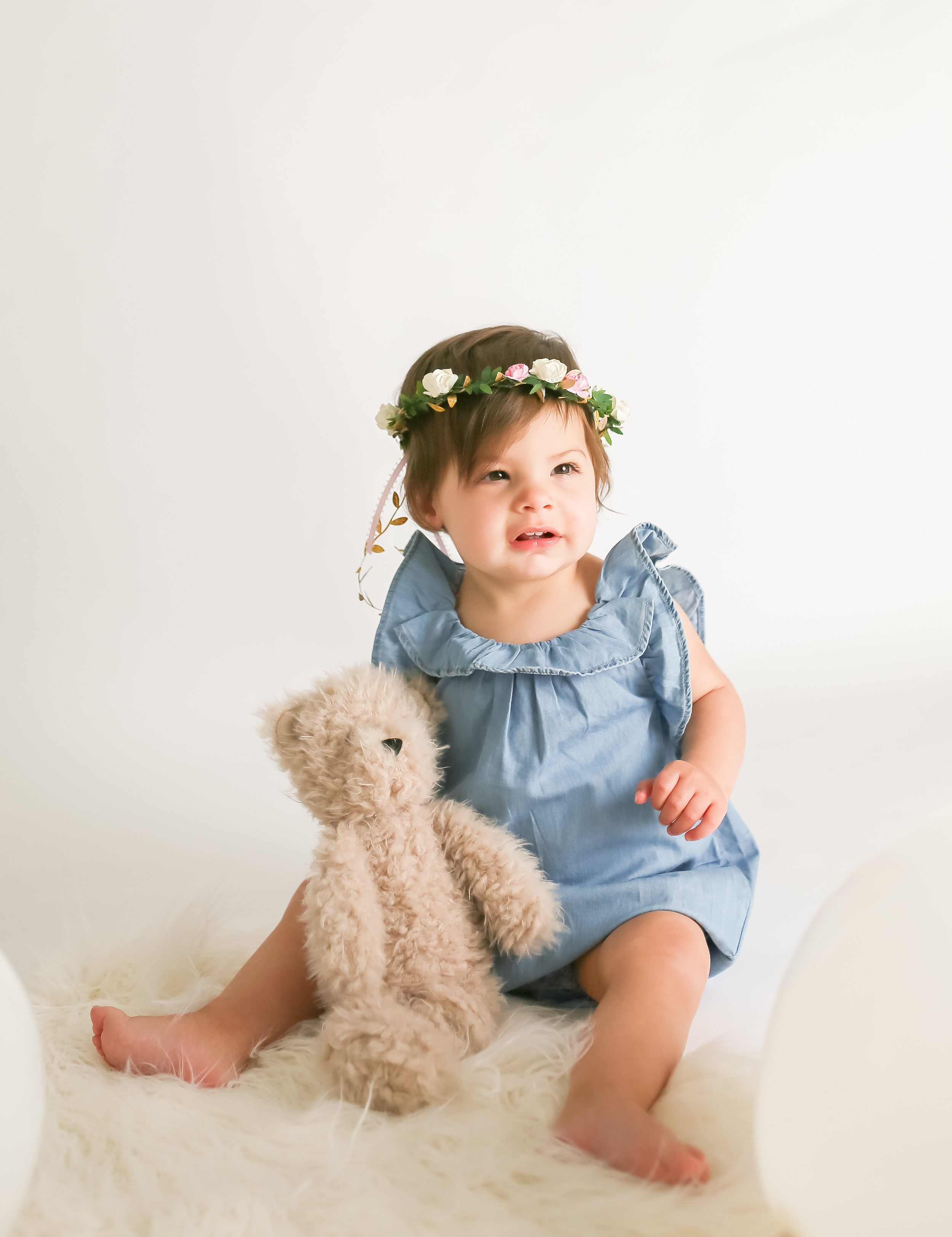 baby girl teddy bear balloon