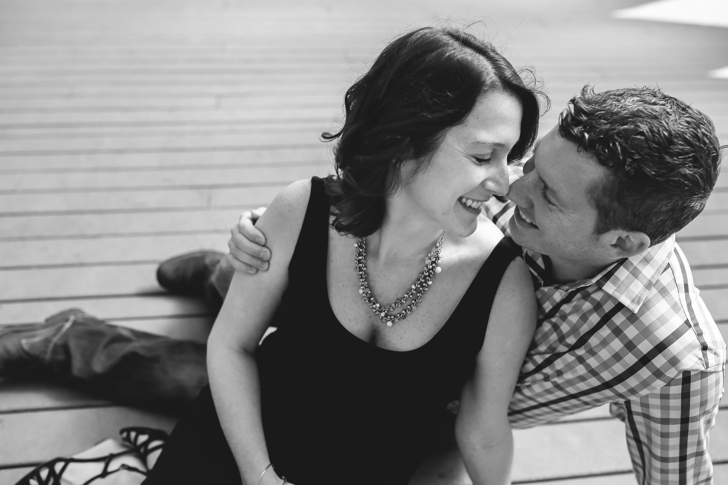 couples eskimo kiss