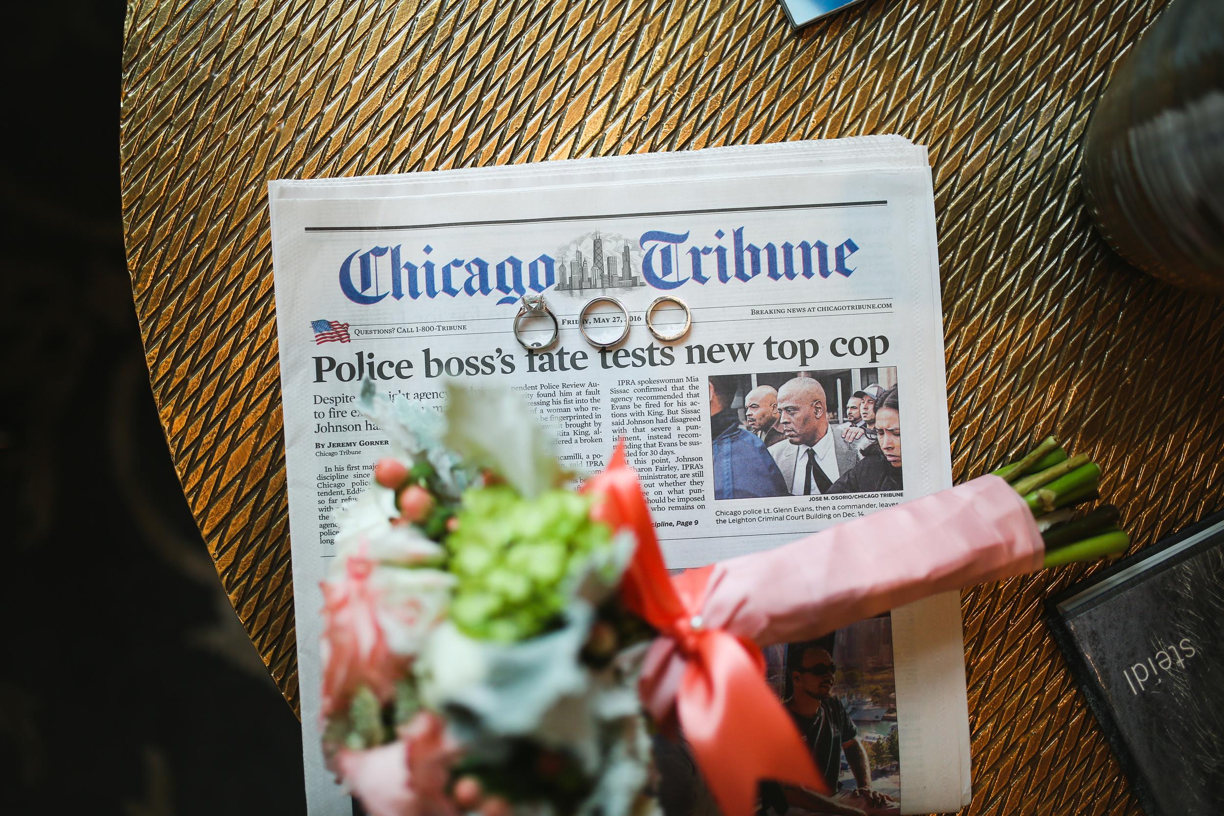 chicago tribune newspaper wedding rings