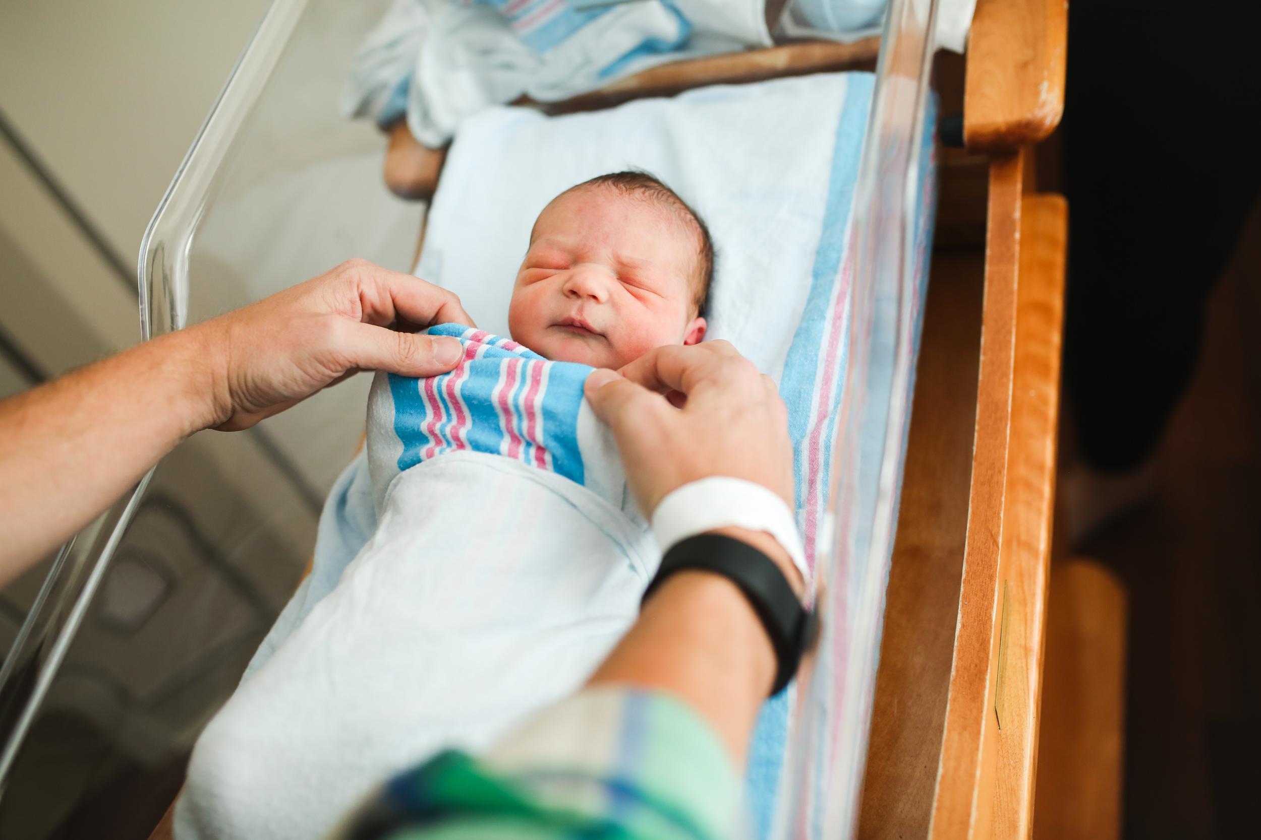 hospital baby burrito swaddle
