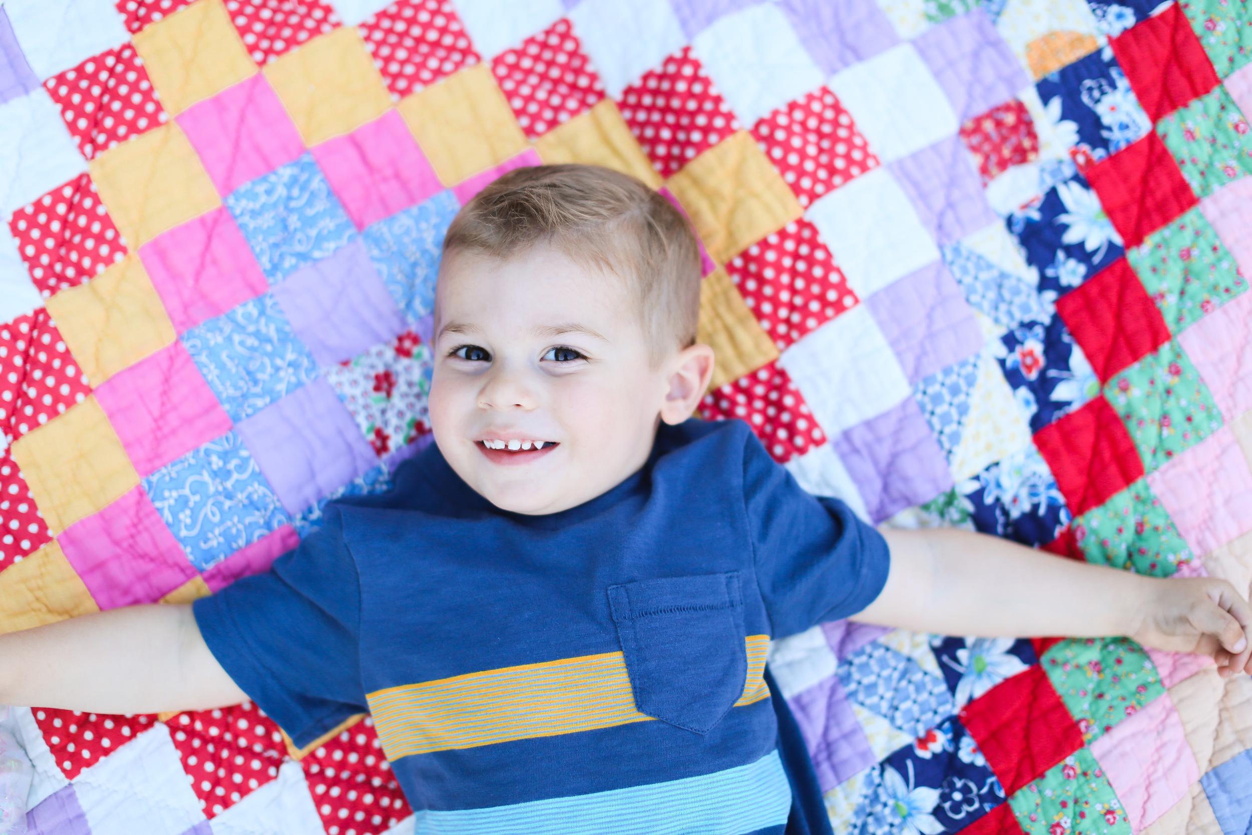 toddler boy smile