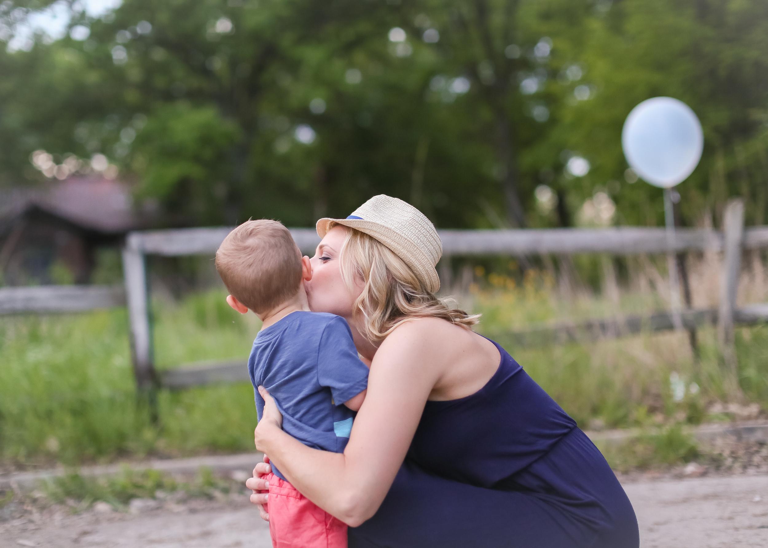 mommy son kiss