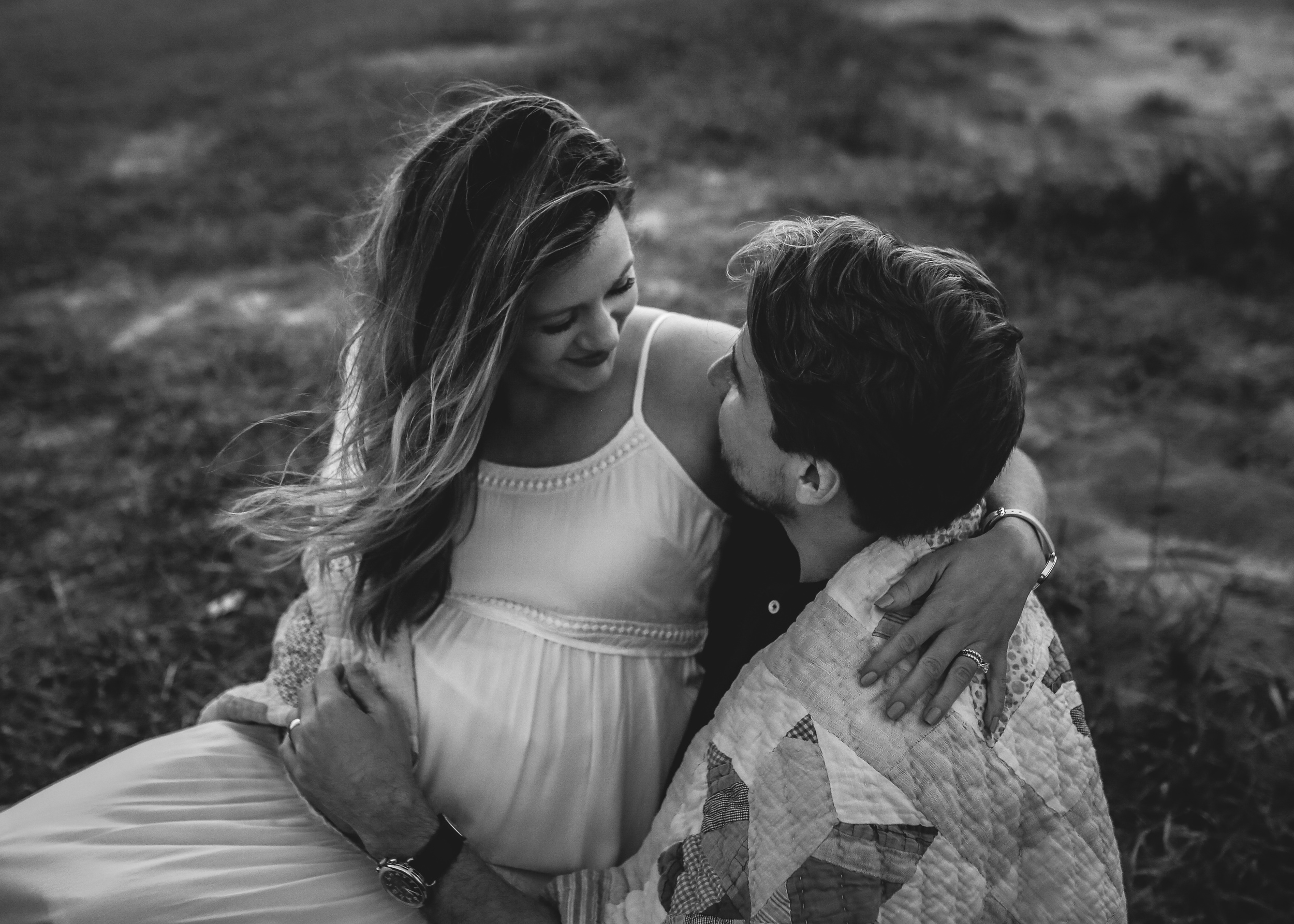 intimate couple expecting baby