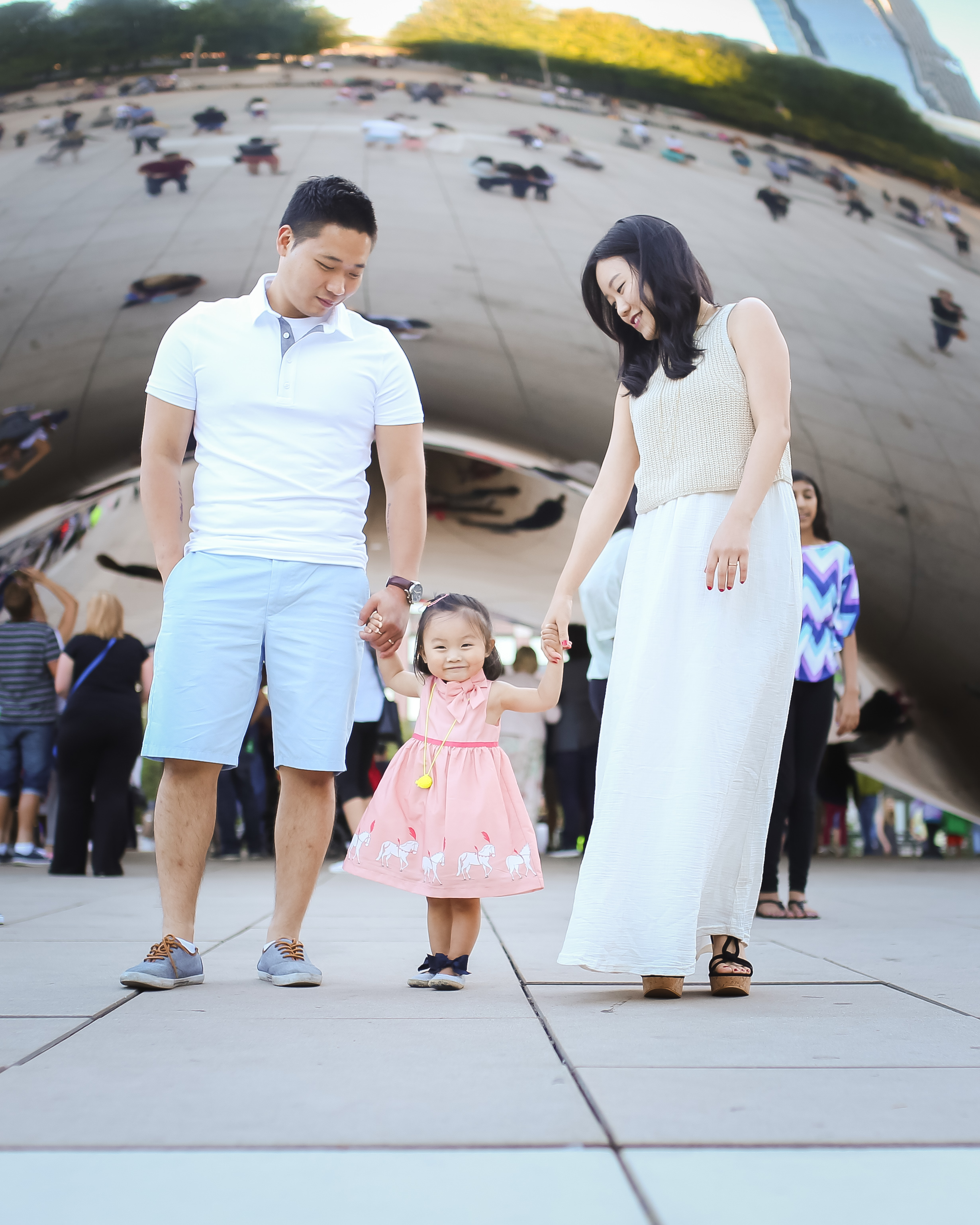 adorable toddler girl in pink dress chicago