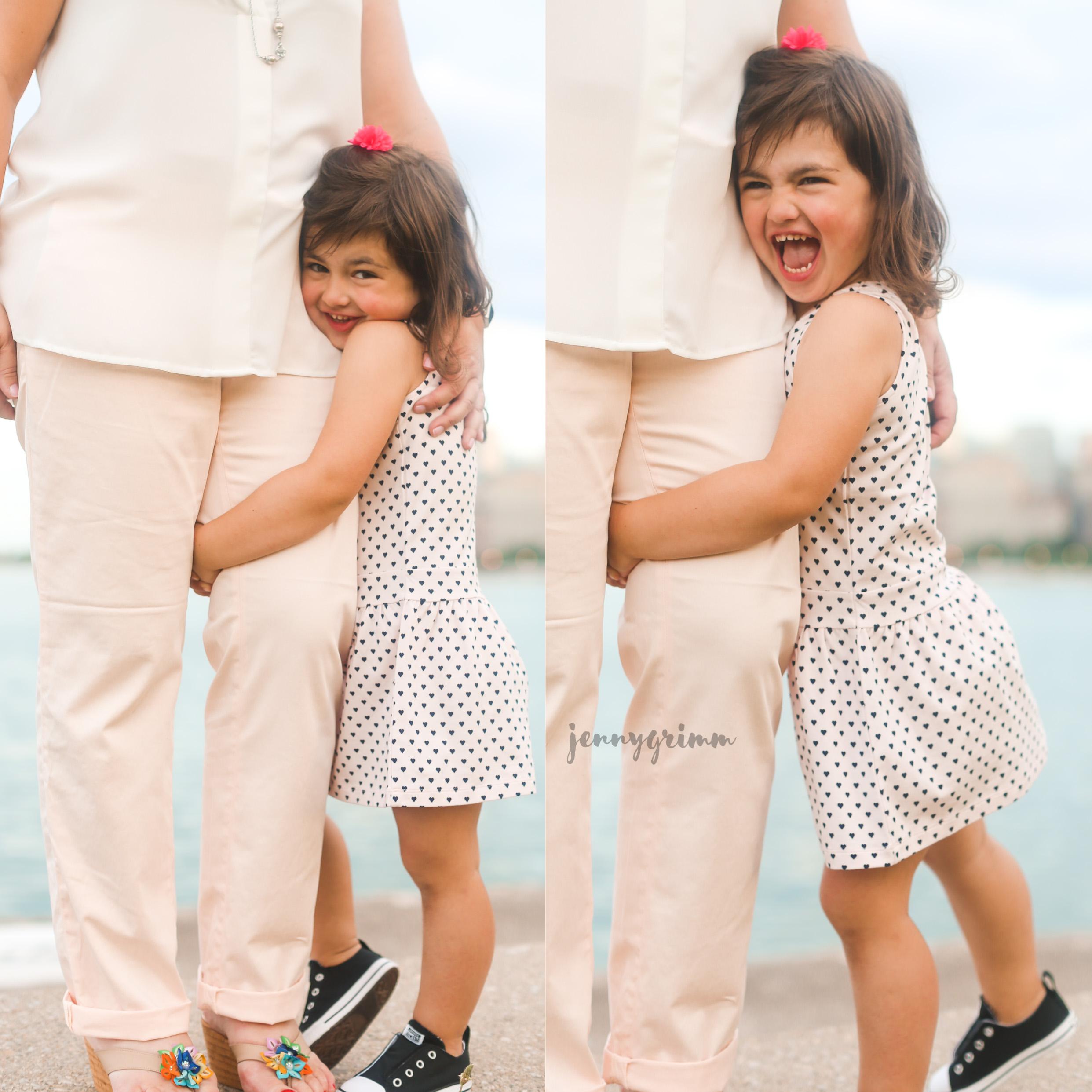 mommy leg hug