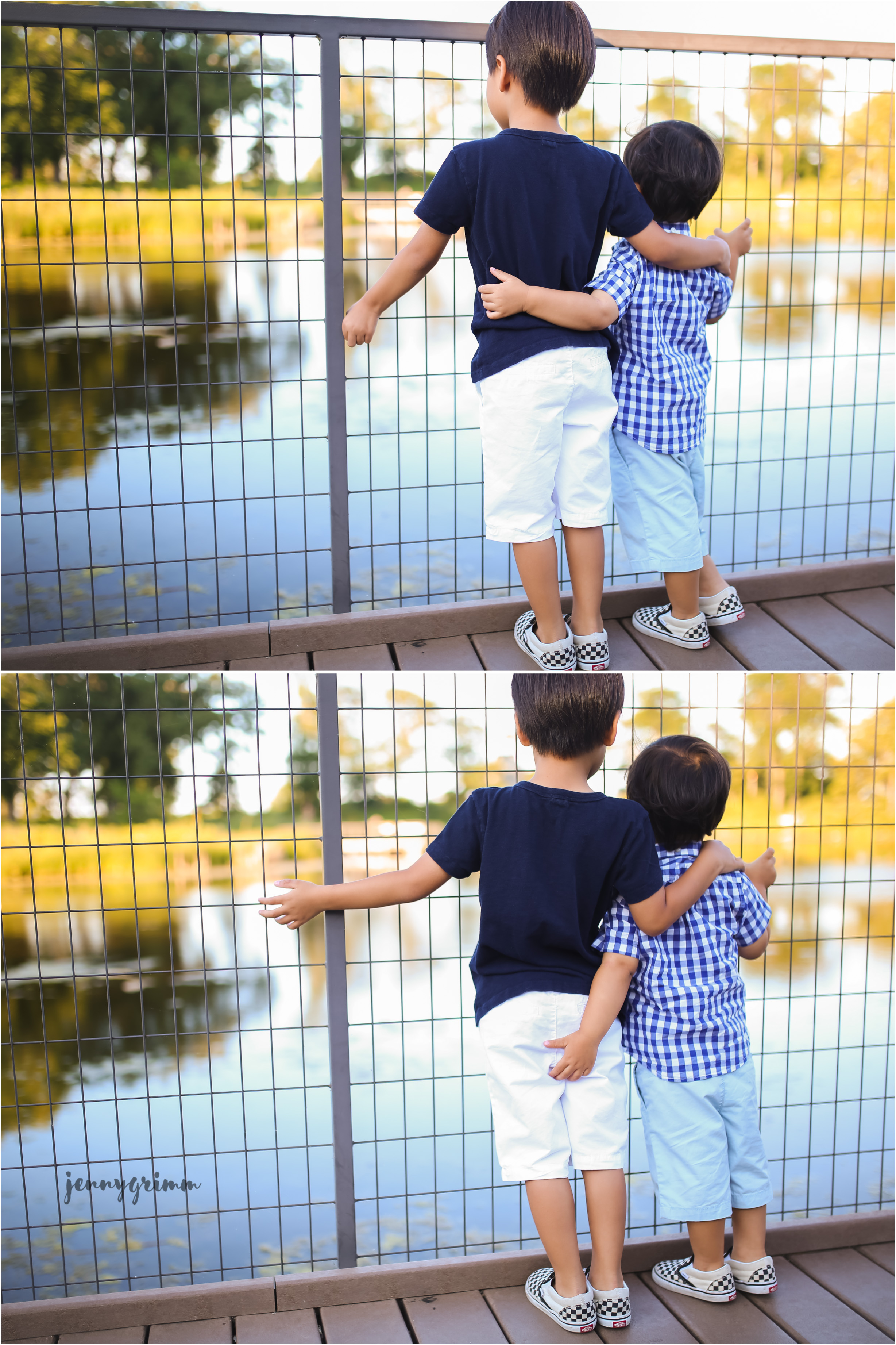 brother hug collage jenny grimm photography