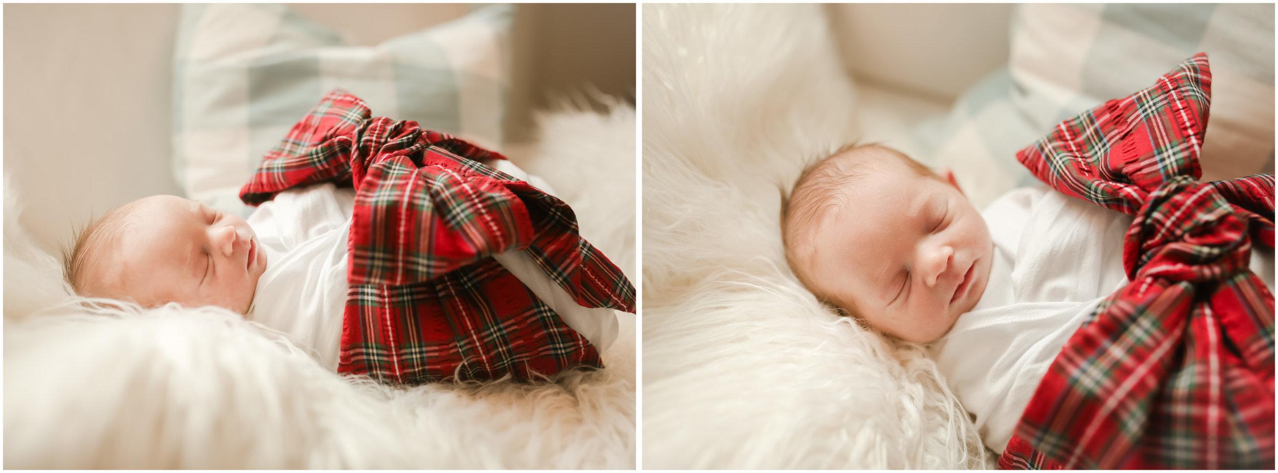 jenny grimm photography santa baby christmas bow newborn lifestyle photography chicago