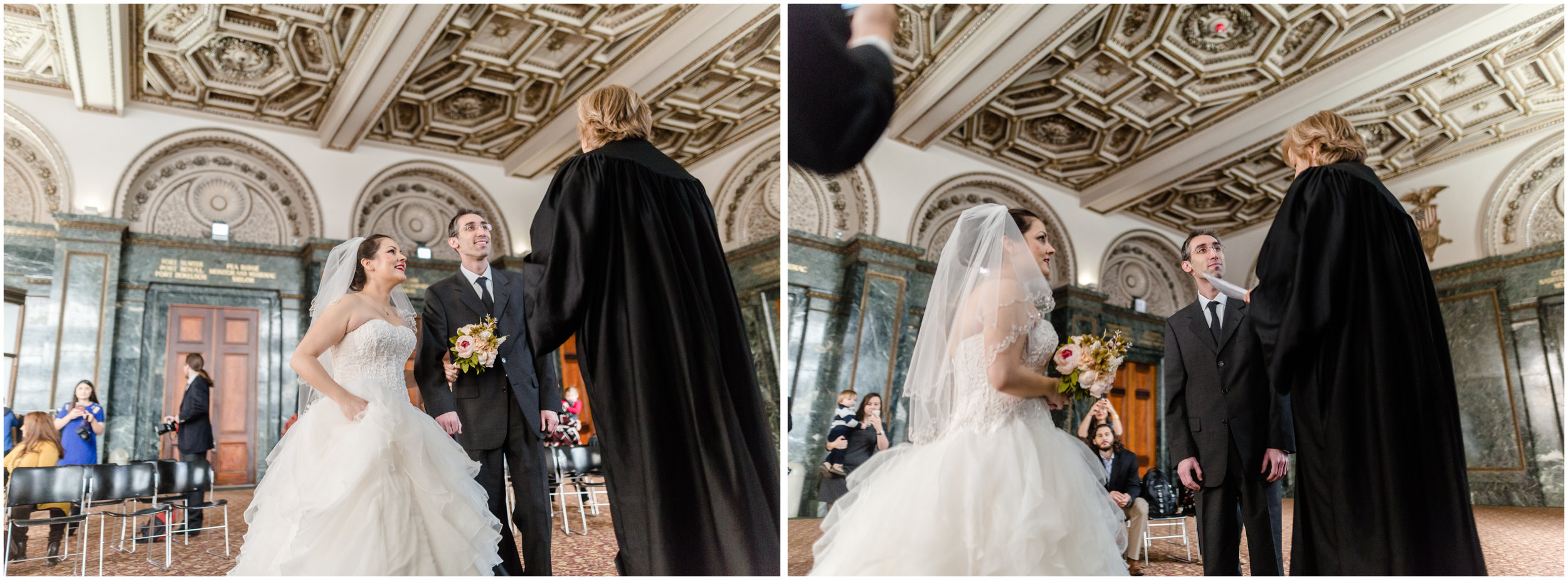 chicago cultural center elopement wedding city hall marriage jenny grimm photography
