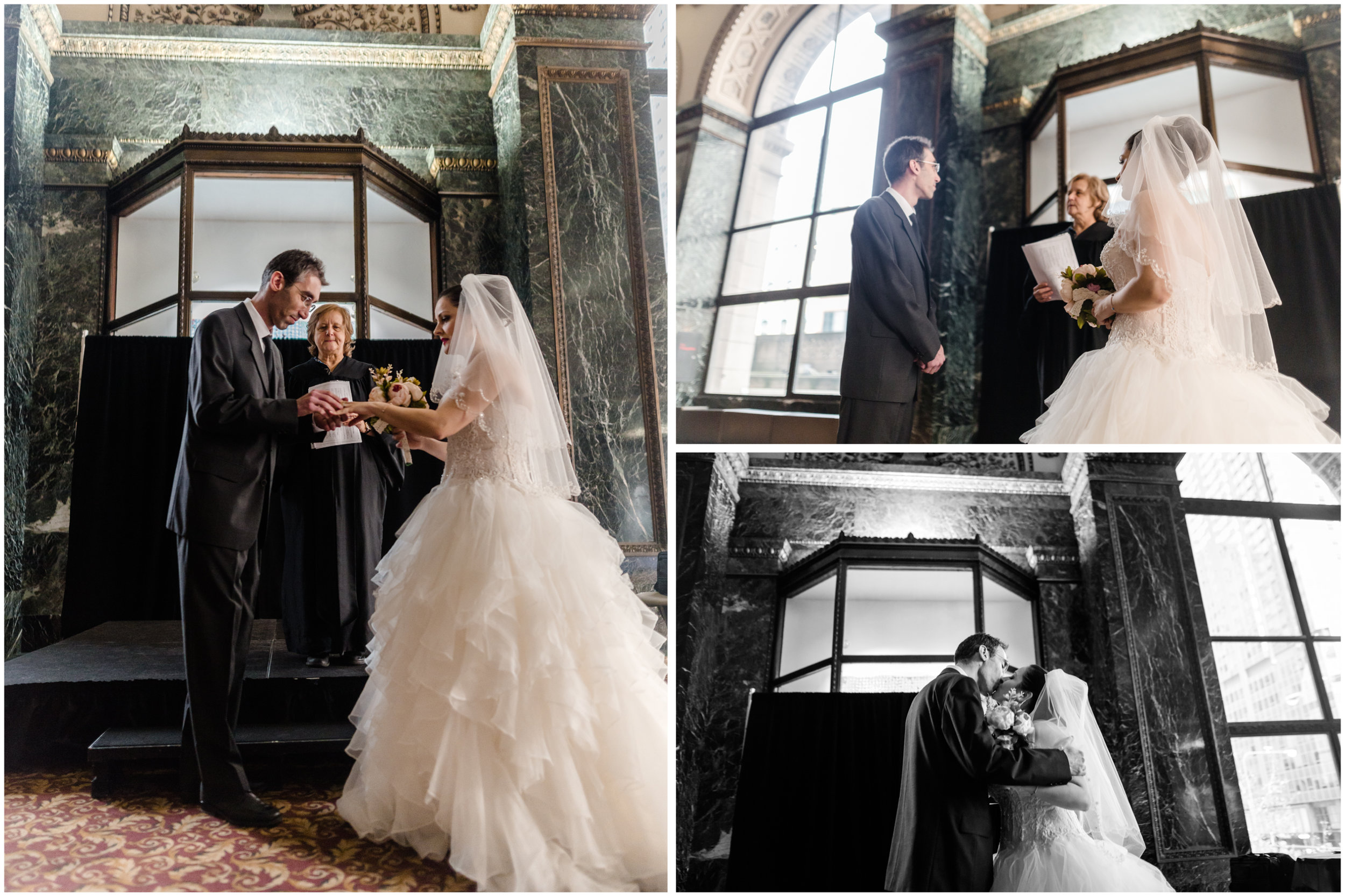 chicago cultural center elopement wedding jenny grimm photography