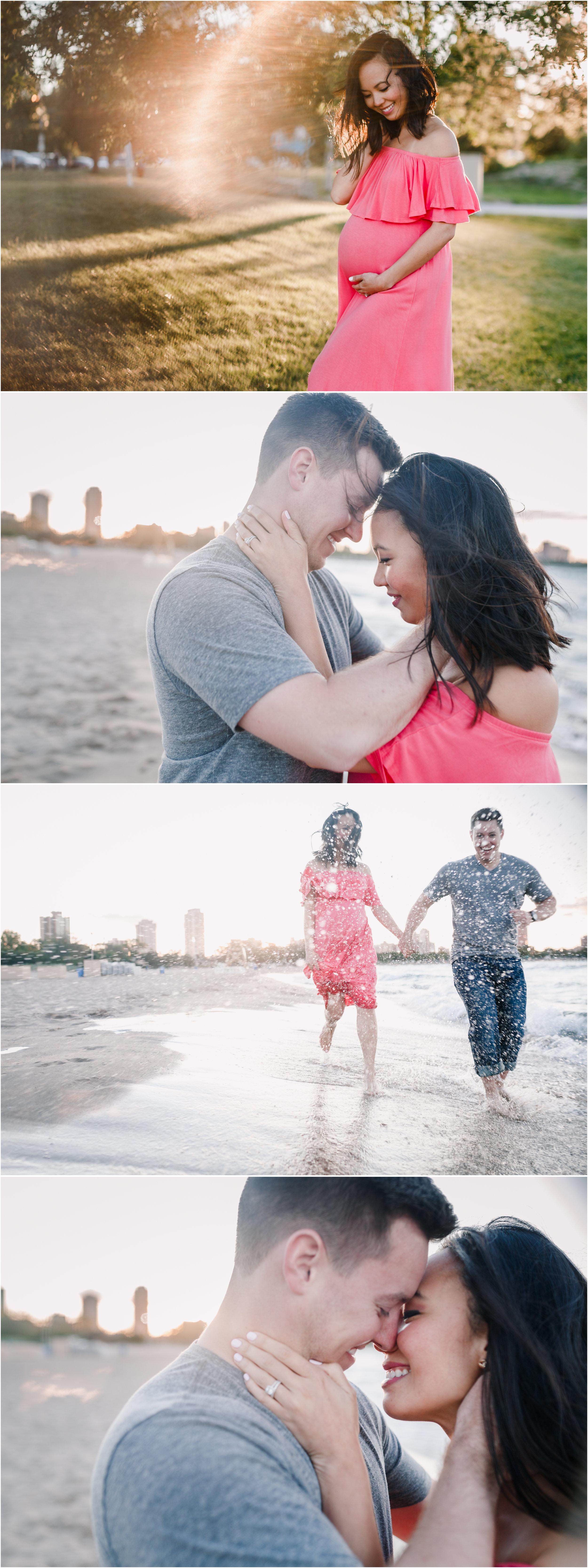 chicago maternity lifestyle beach sunset photographer jenny grimm