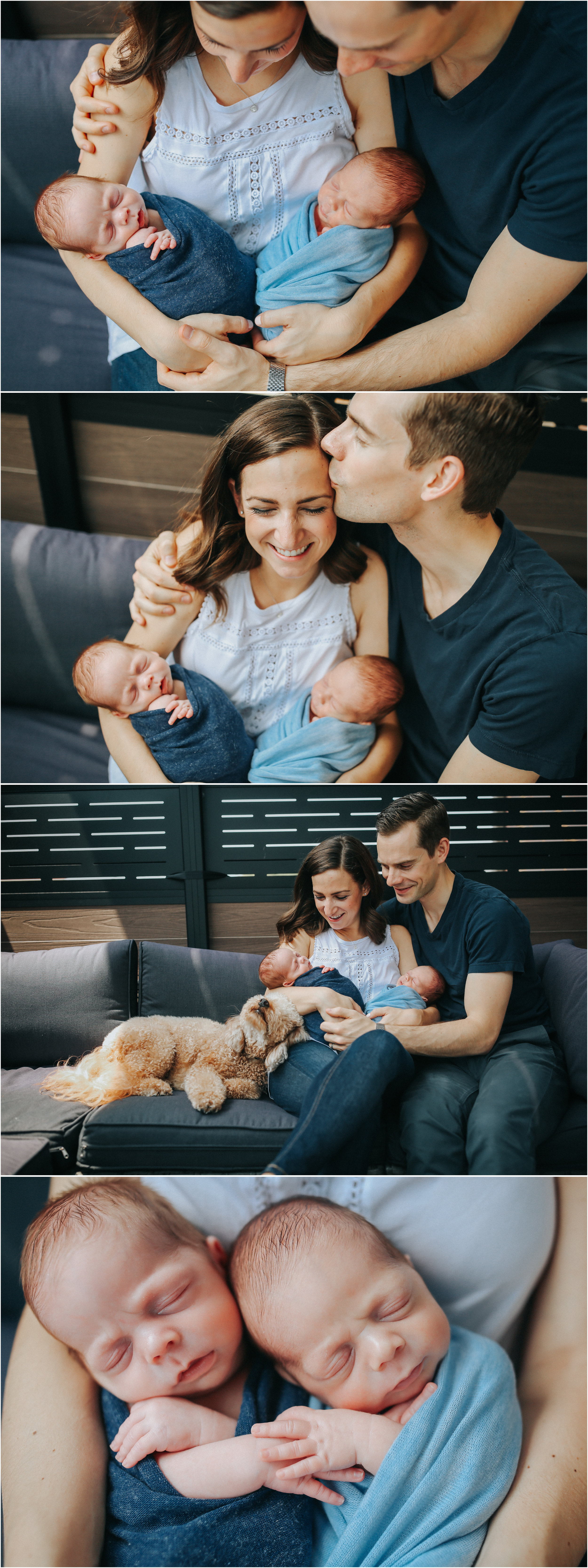 chicago twin newborn baby lifestyle in home photographer jenny grimm