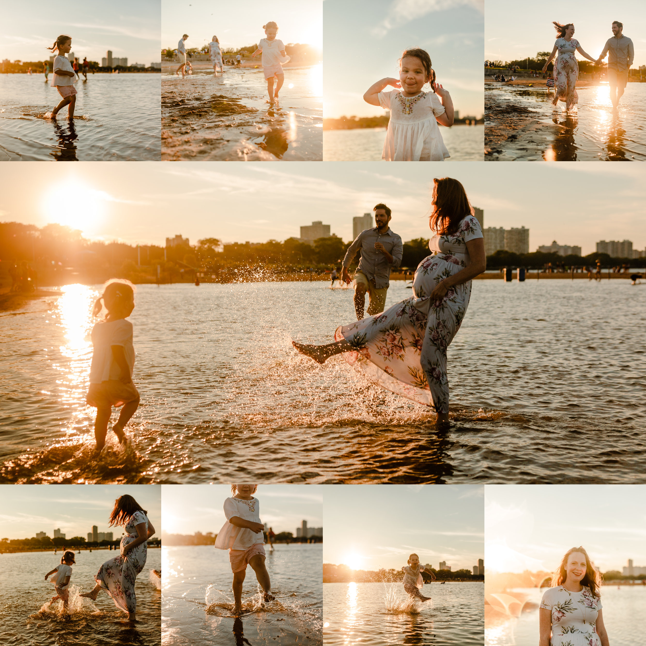 chicago maternity lifestyle photographer beach session jenny grimm photography