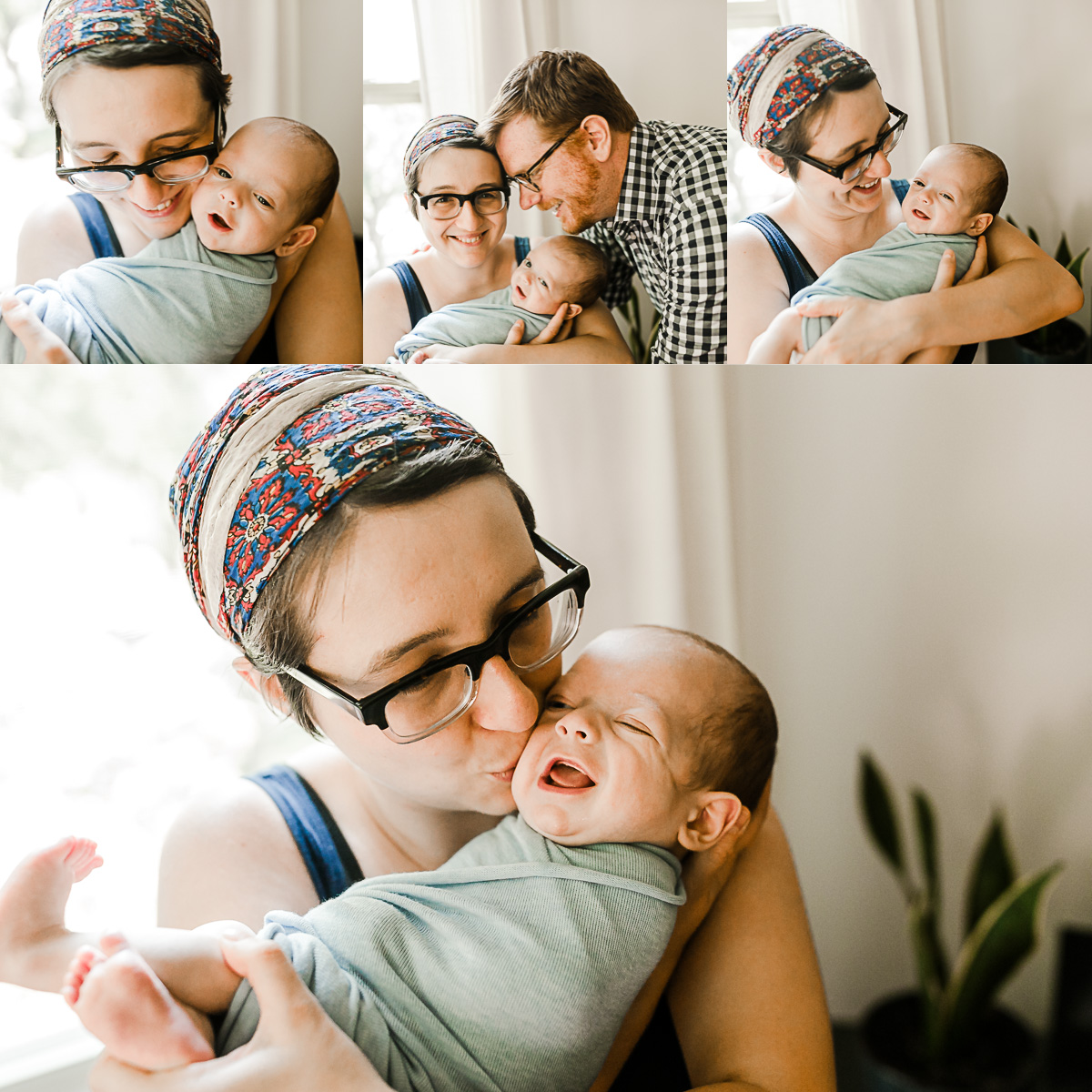 chicago lifestyle newborn in home session mommy and me photographer jenny grimm photography