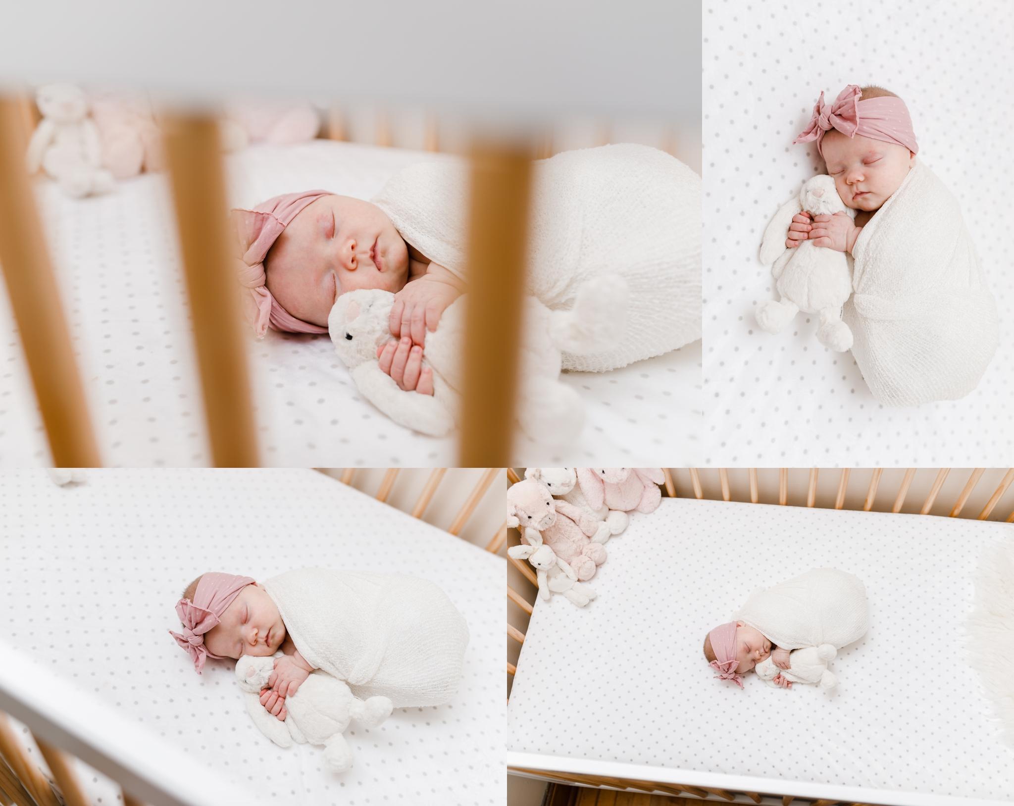 CHICAGO newborn lifestyle photographer jenny grimm baby girl nursery crib