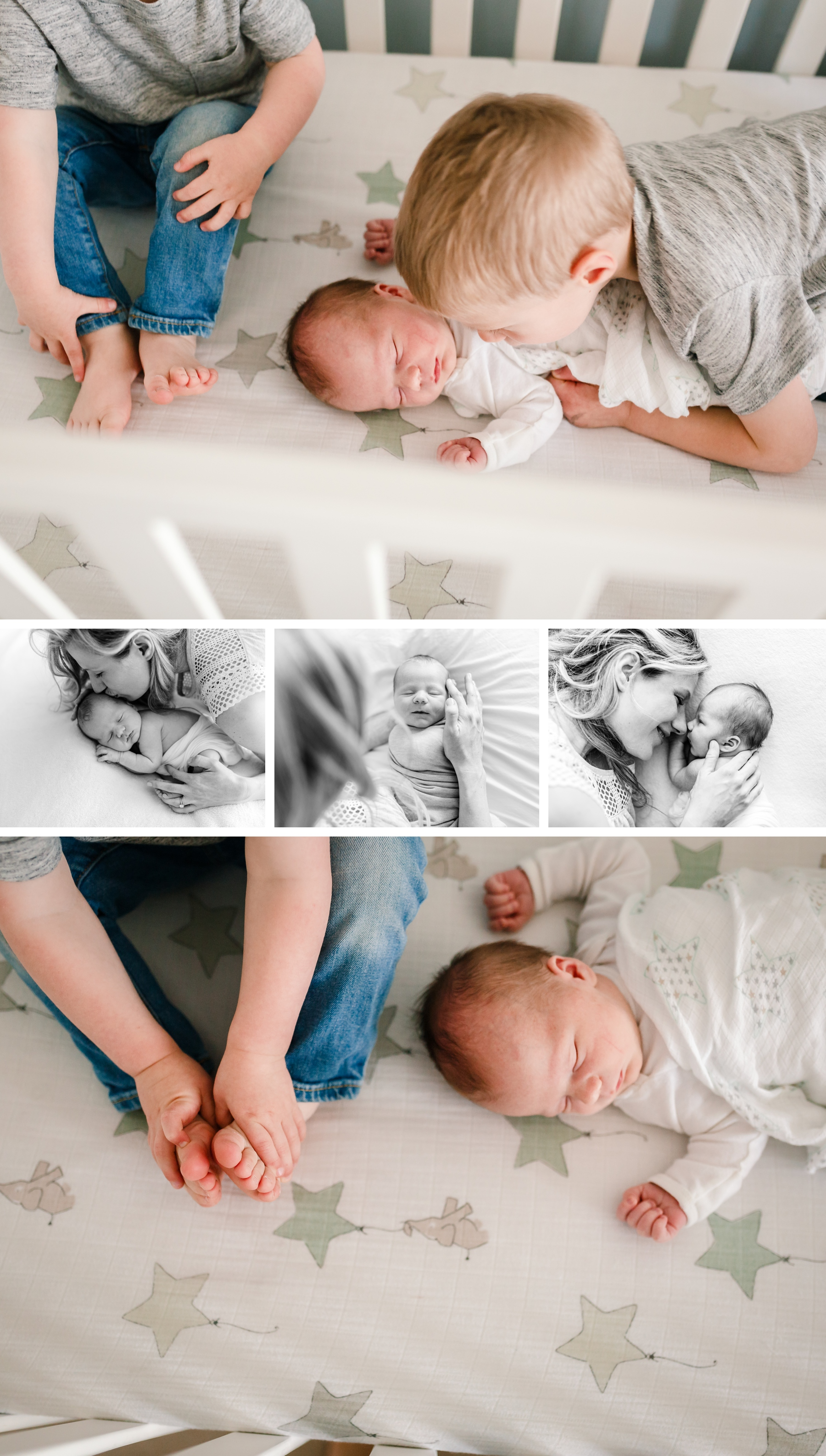 chicago newborn lifestyle photographer jenny grimm photography simple organic natural portraits baby boy brothers family of three