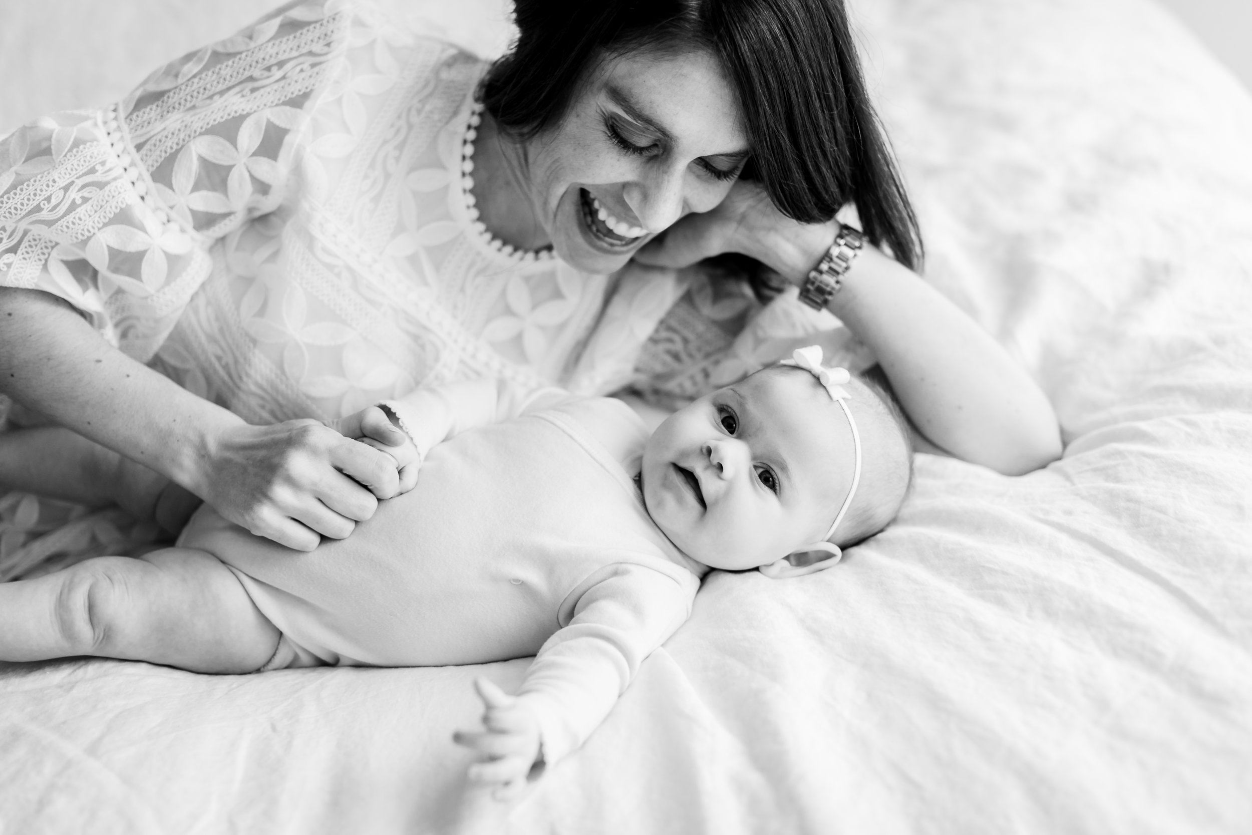 chicago studio lifestyle mommy me bw candid portrait jenny grimm baby photography